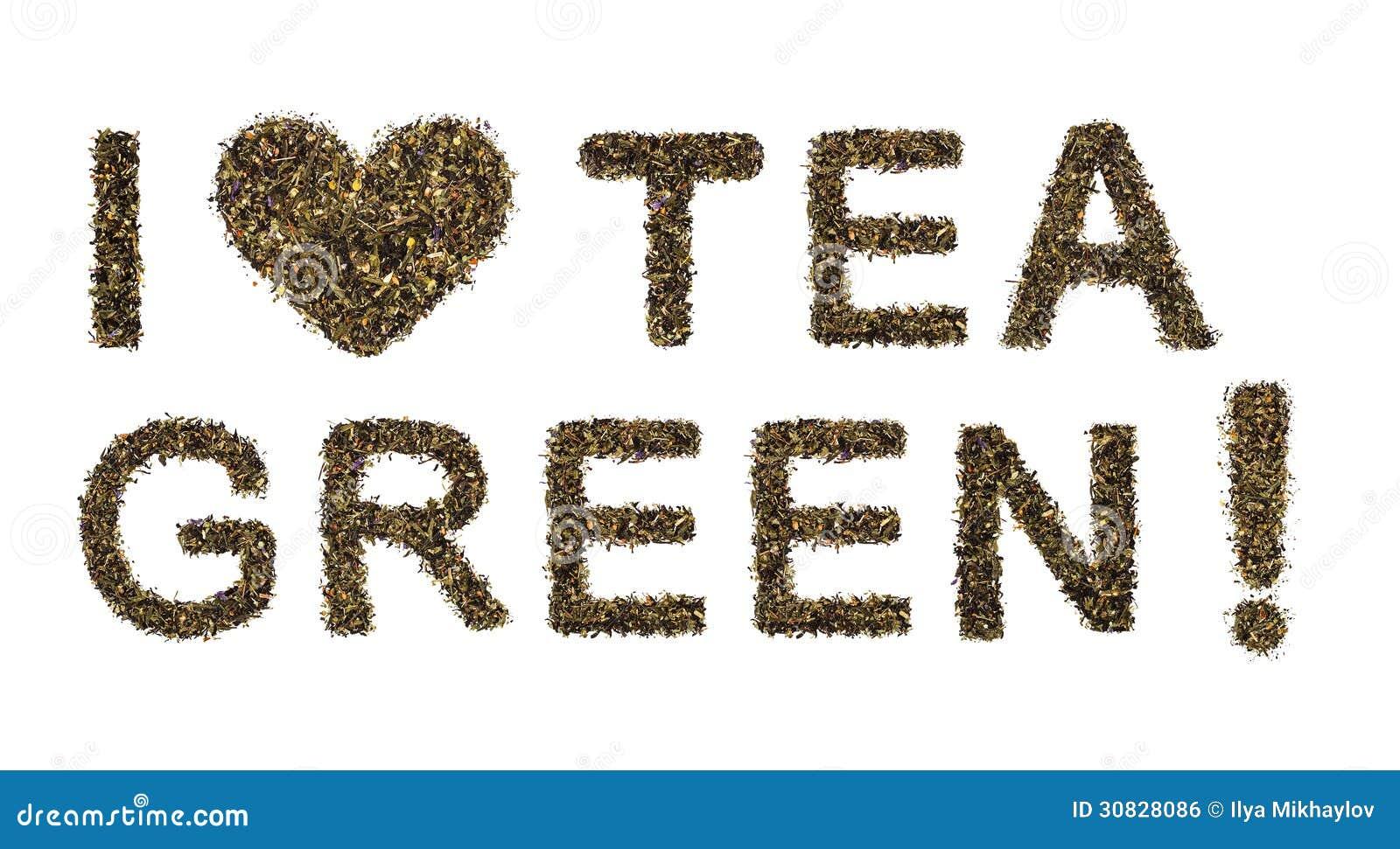 Amo il tè verde
