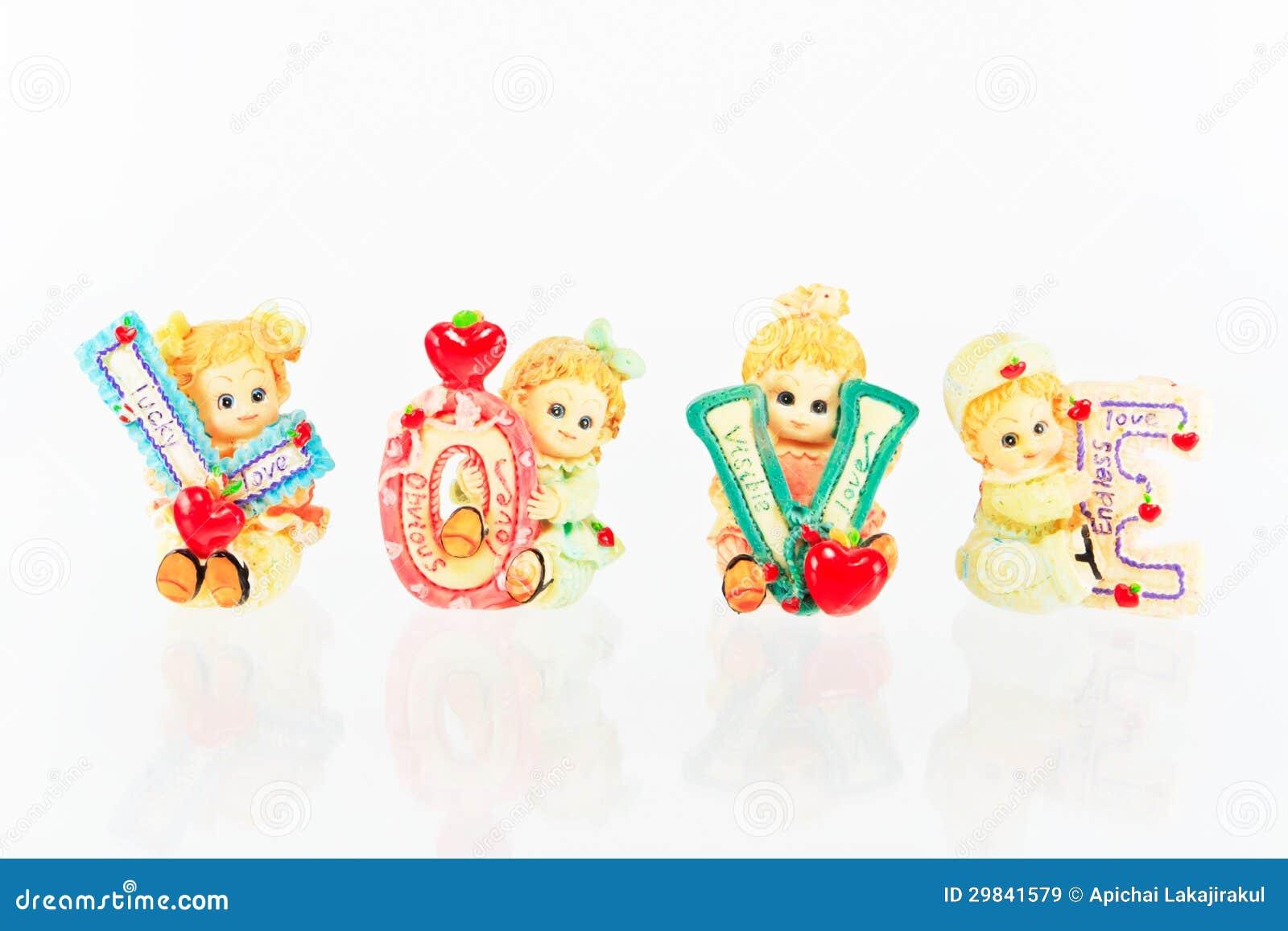 Amor cerâmico da boneca
