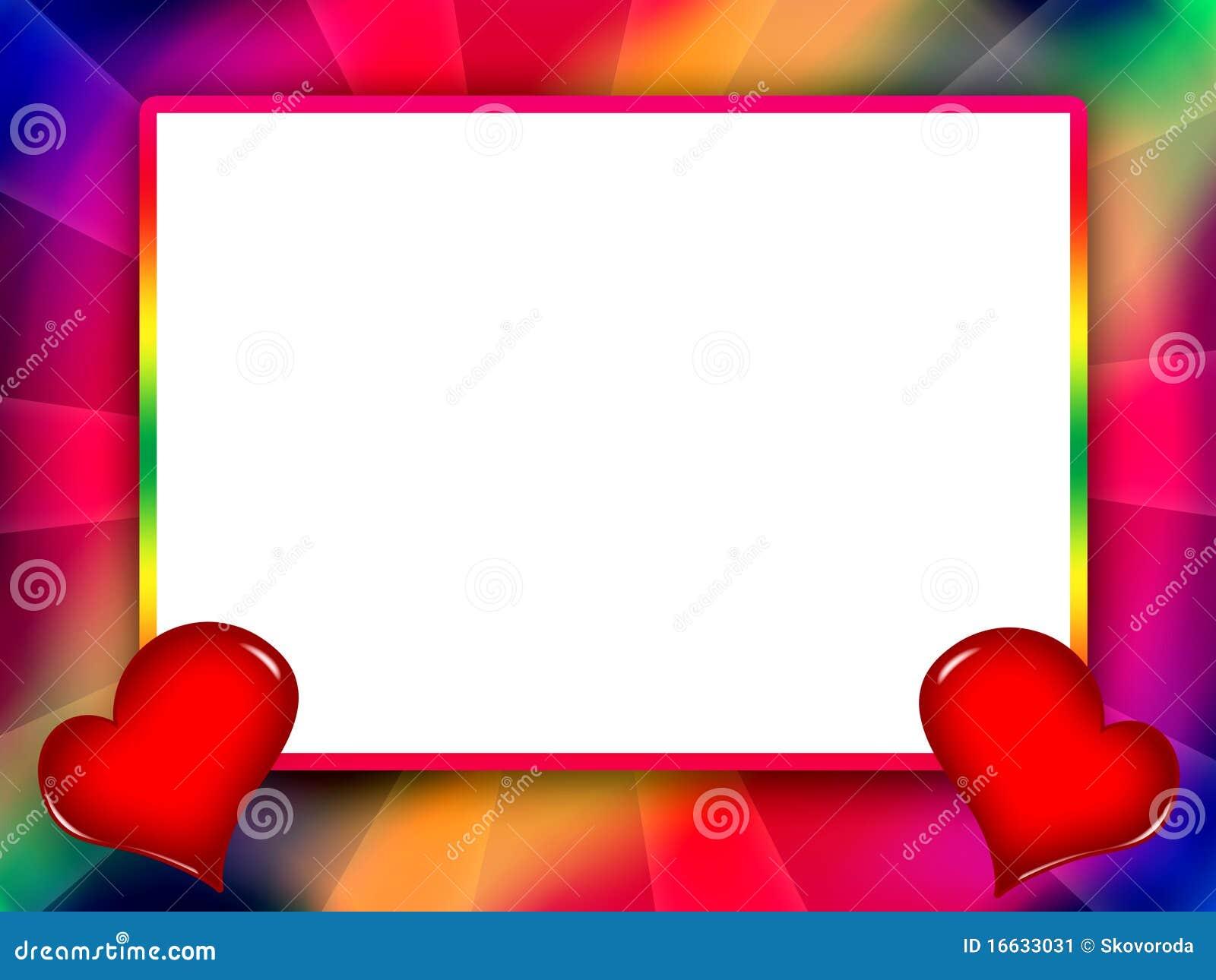 Amor colorido del marco stock de ilustraci n imagen de - Marcos de fotos grandes ...