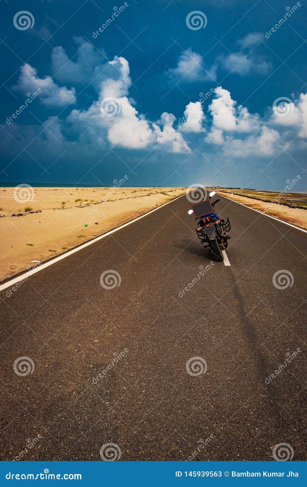 Amor de livramento da motocicleta com mensagem