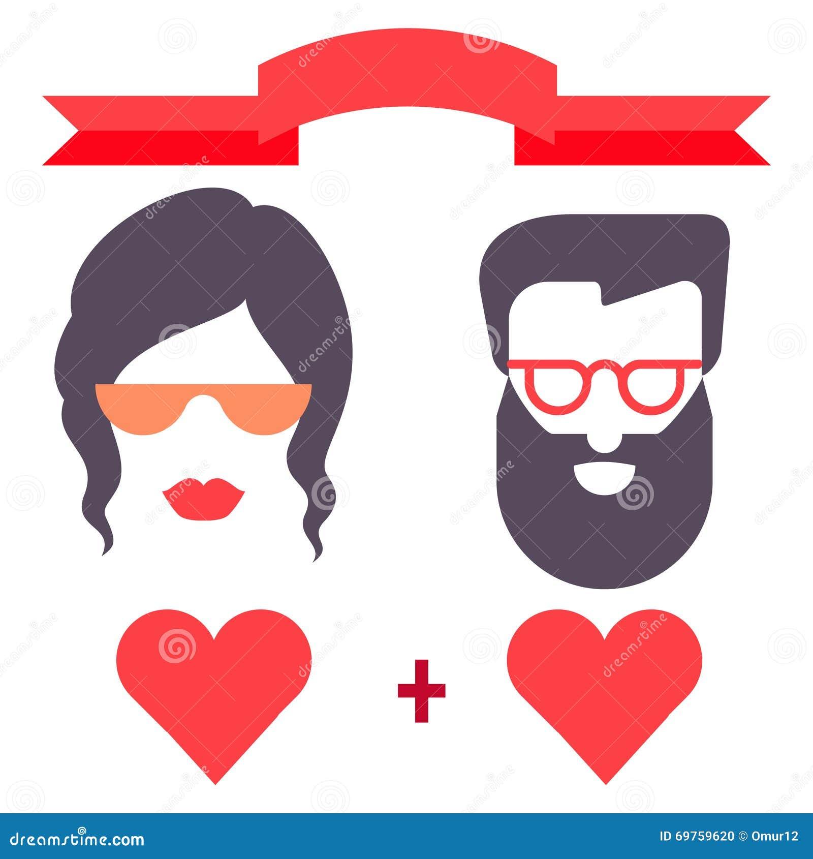 Amor Del Hombre Y De La Mujer Del Inconformista Tarjeta