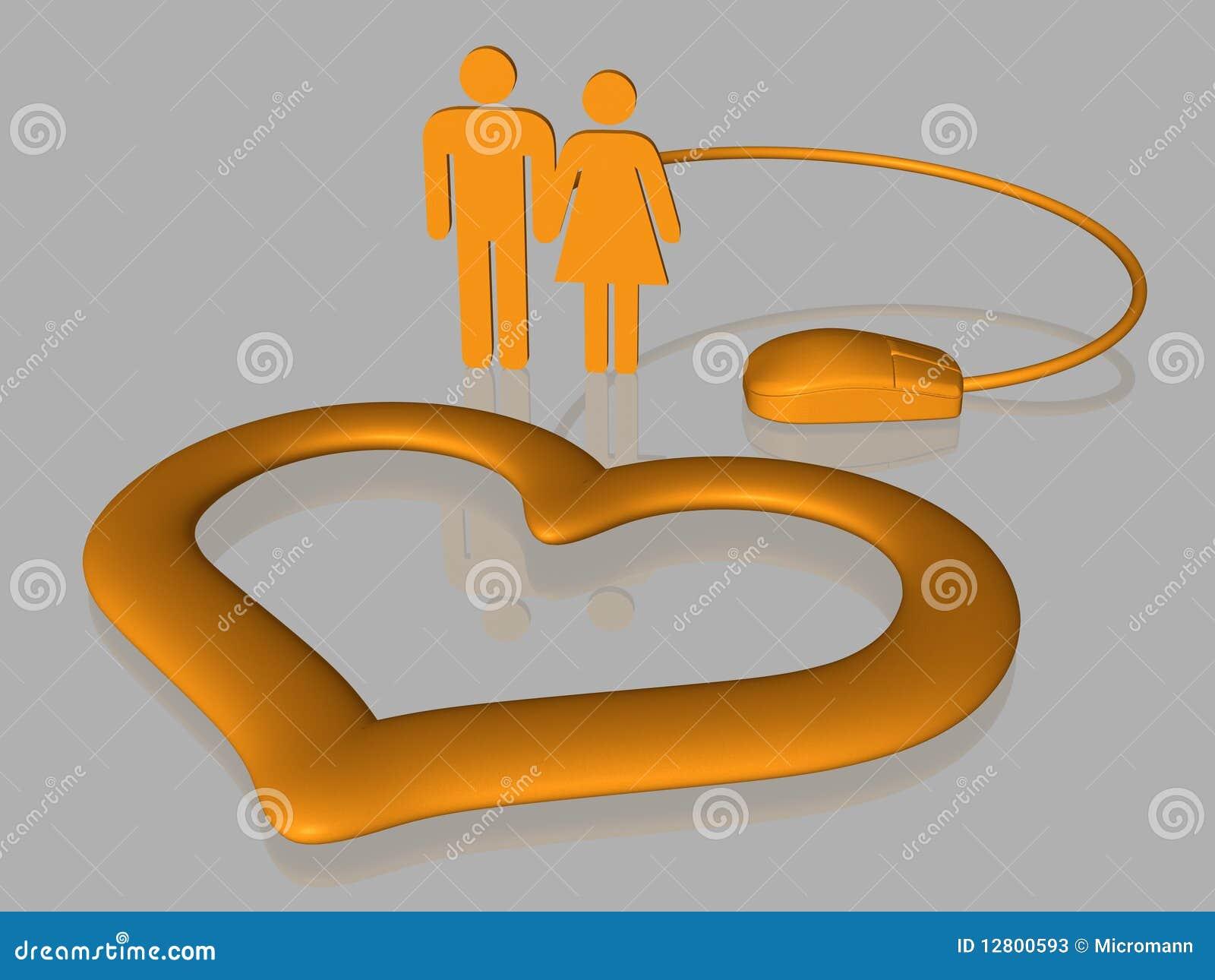 Amor do Internet - isolado - 3D