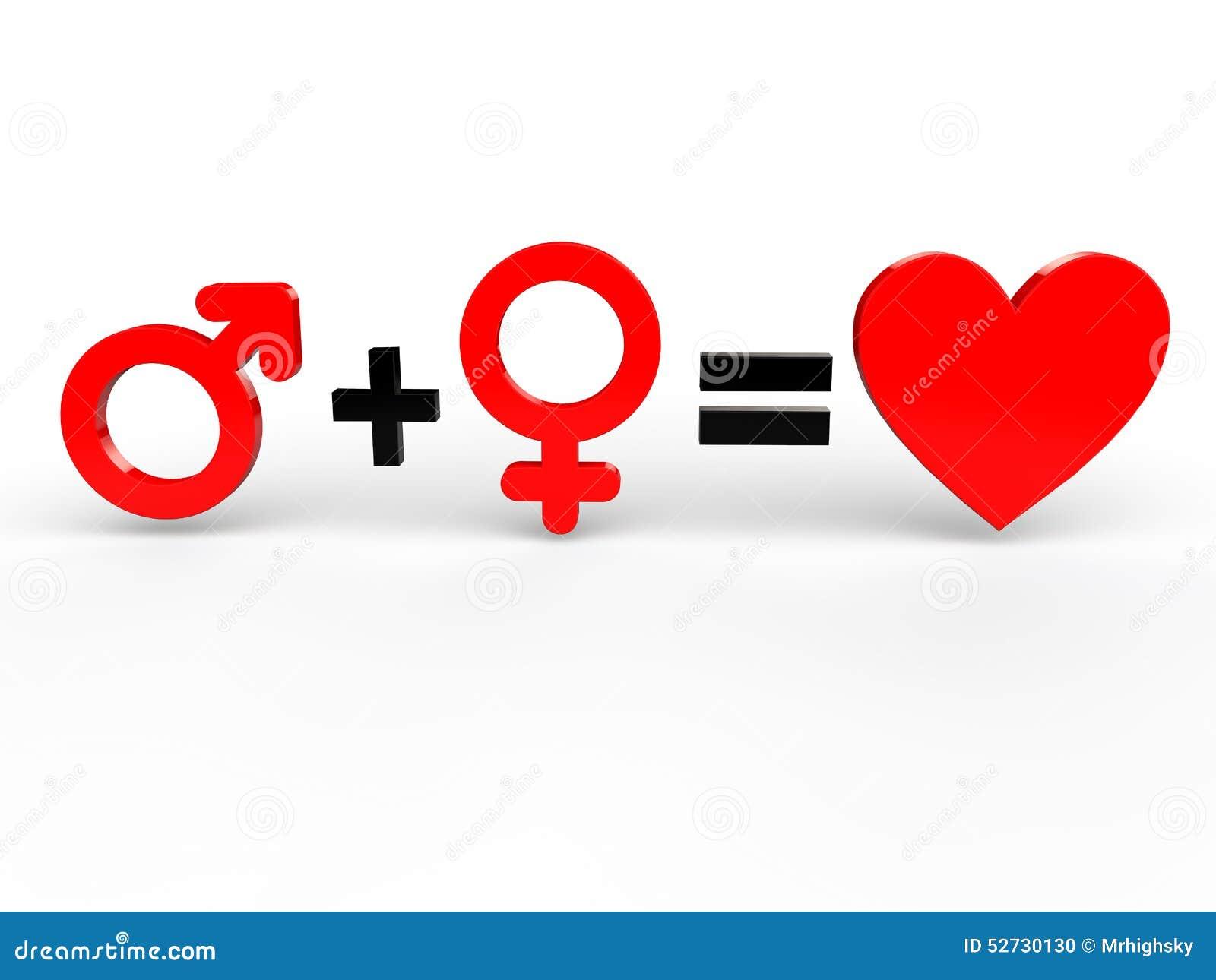 Amor dos iguais do homem e da mulher