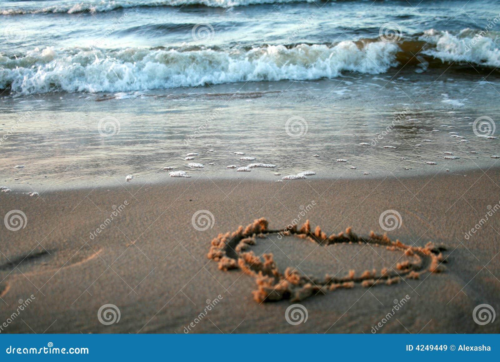 Eu Te Amo Escrito Na Areia Imagens De Stock Royalty Free: Amor E O Mar Imagens De Stock Royalty Free