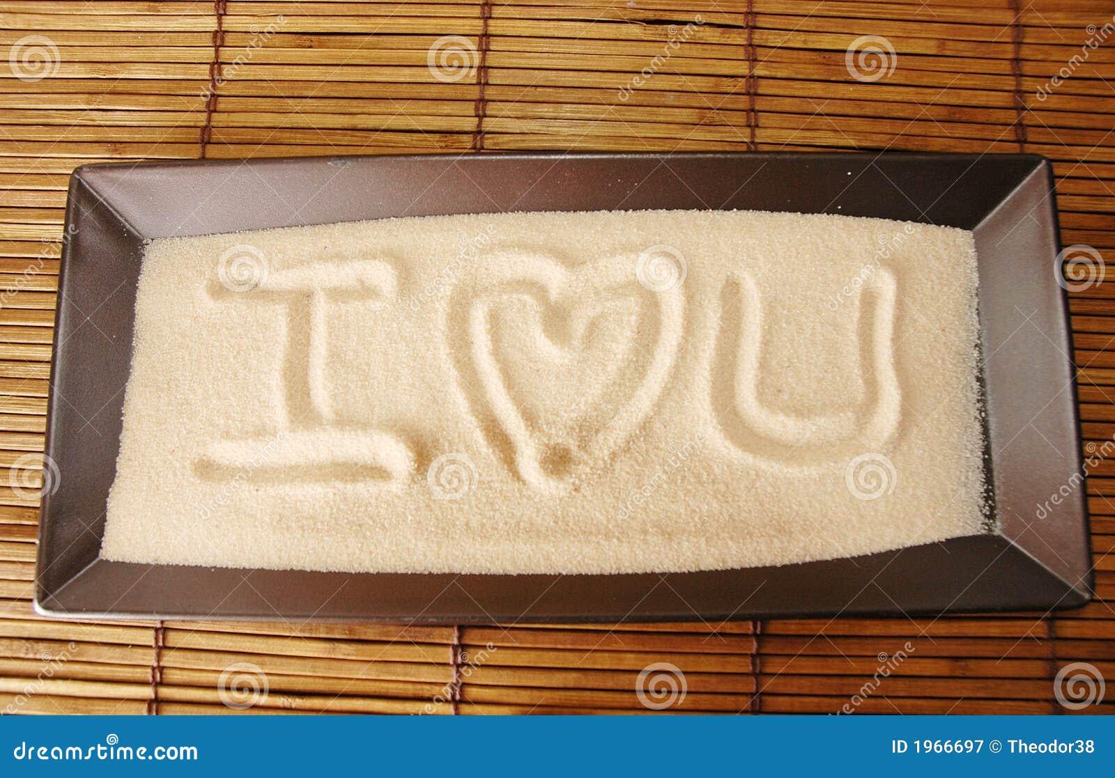 Eu Te Amo Escrito Na Areia Imagens De Stock Royalty Free: Amor Escrito Na Areia Fotografia De Stock Royalty Free