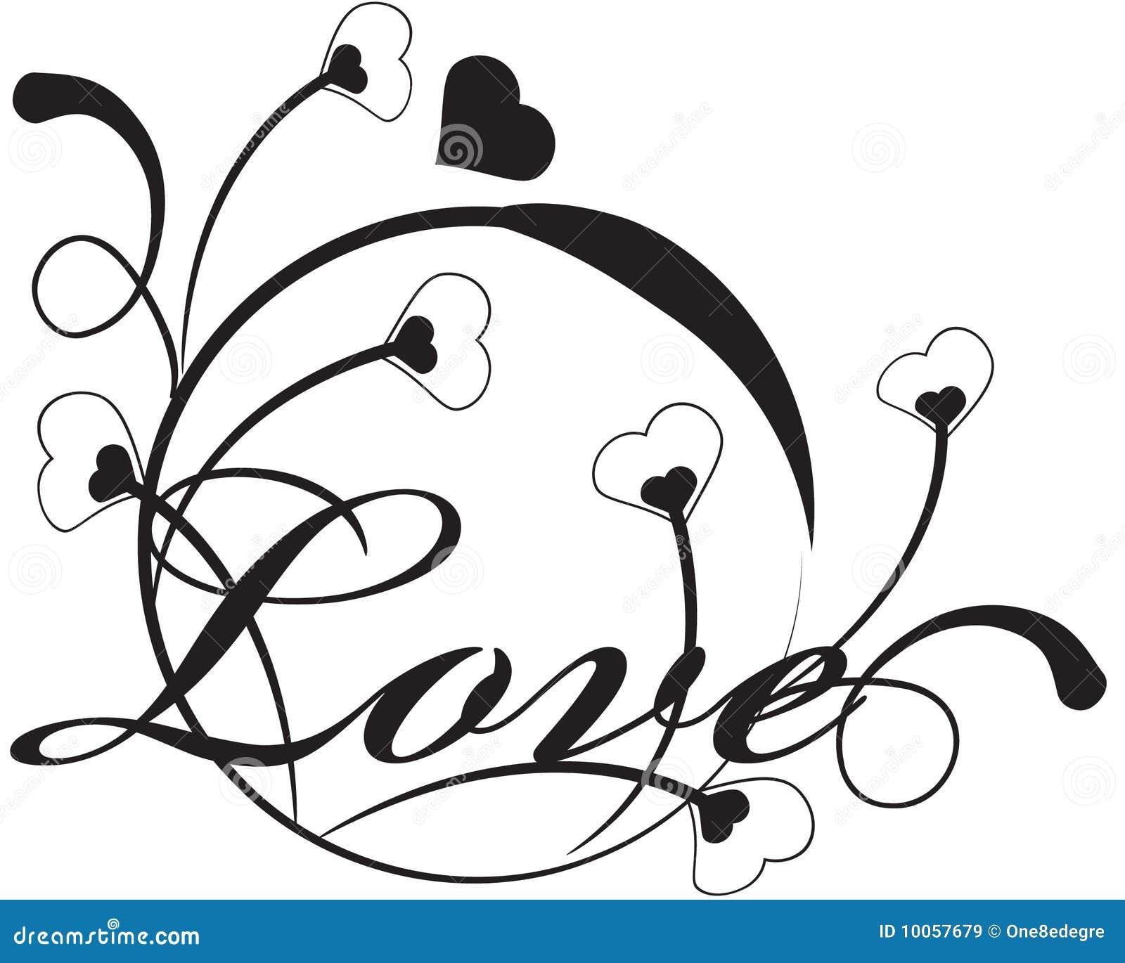 Amor floral do vetor