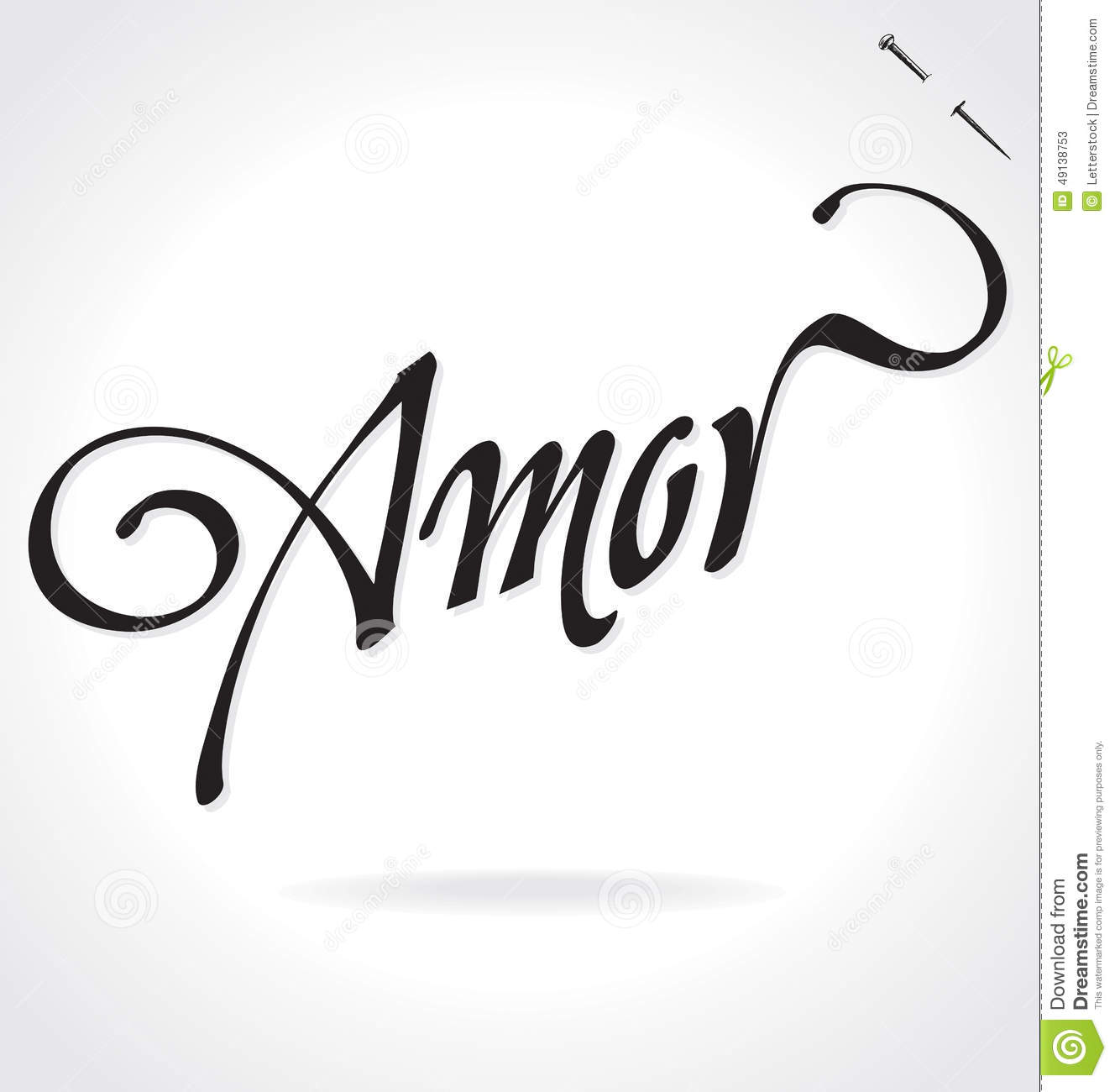 Lettering A To Z >> AMOR hand lettering (vector)