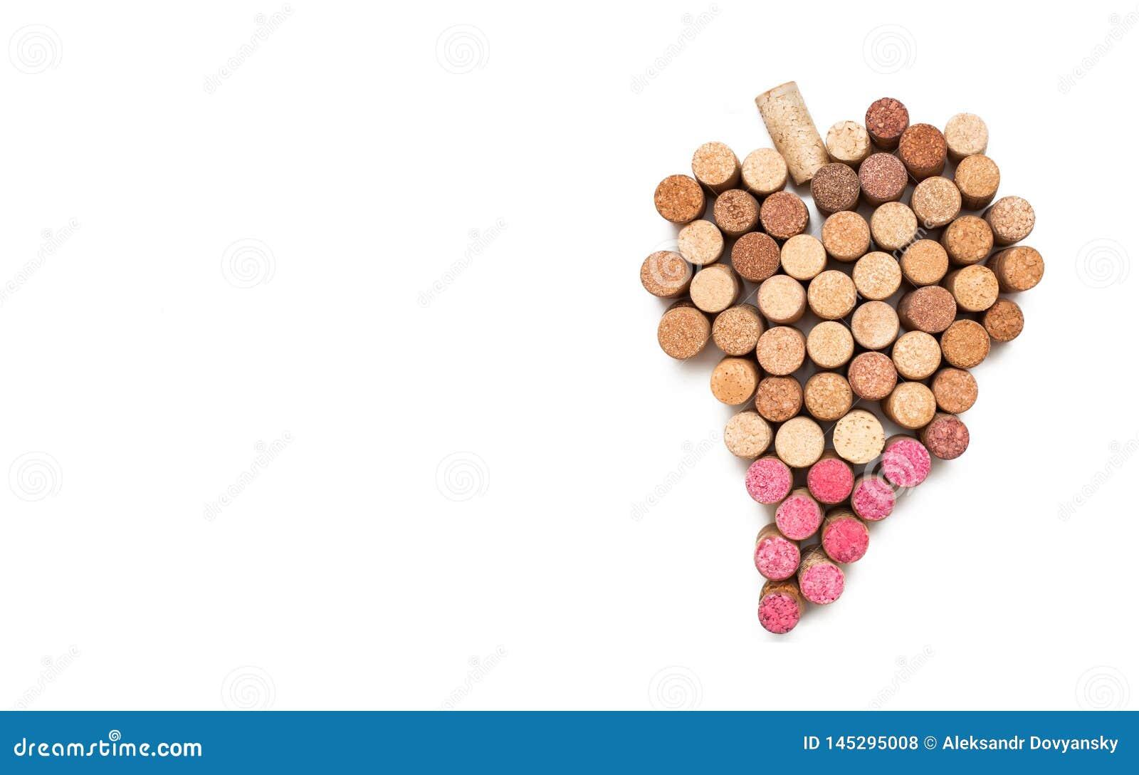 Amor para o vinho S?mbolo do cora??o da corti?a do vinho
