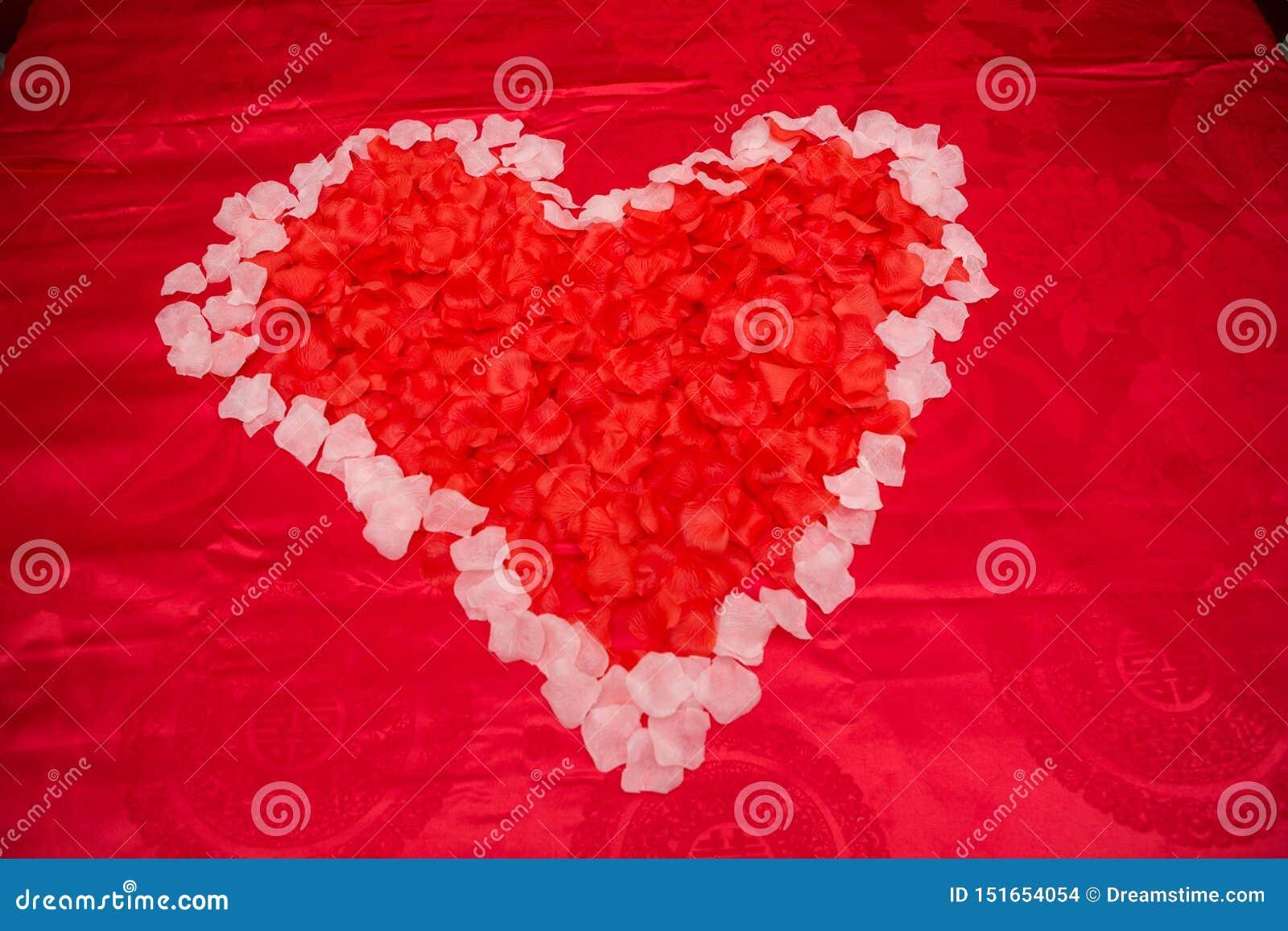 Amor rojo de la flor con la boda
