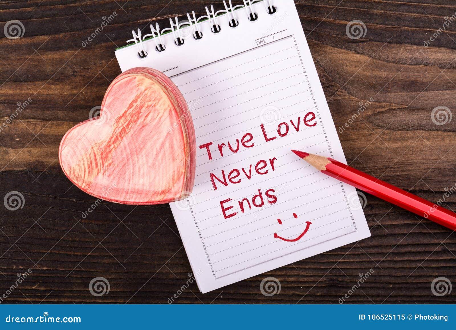 Amor verdadeiro escrito à mão