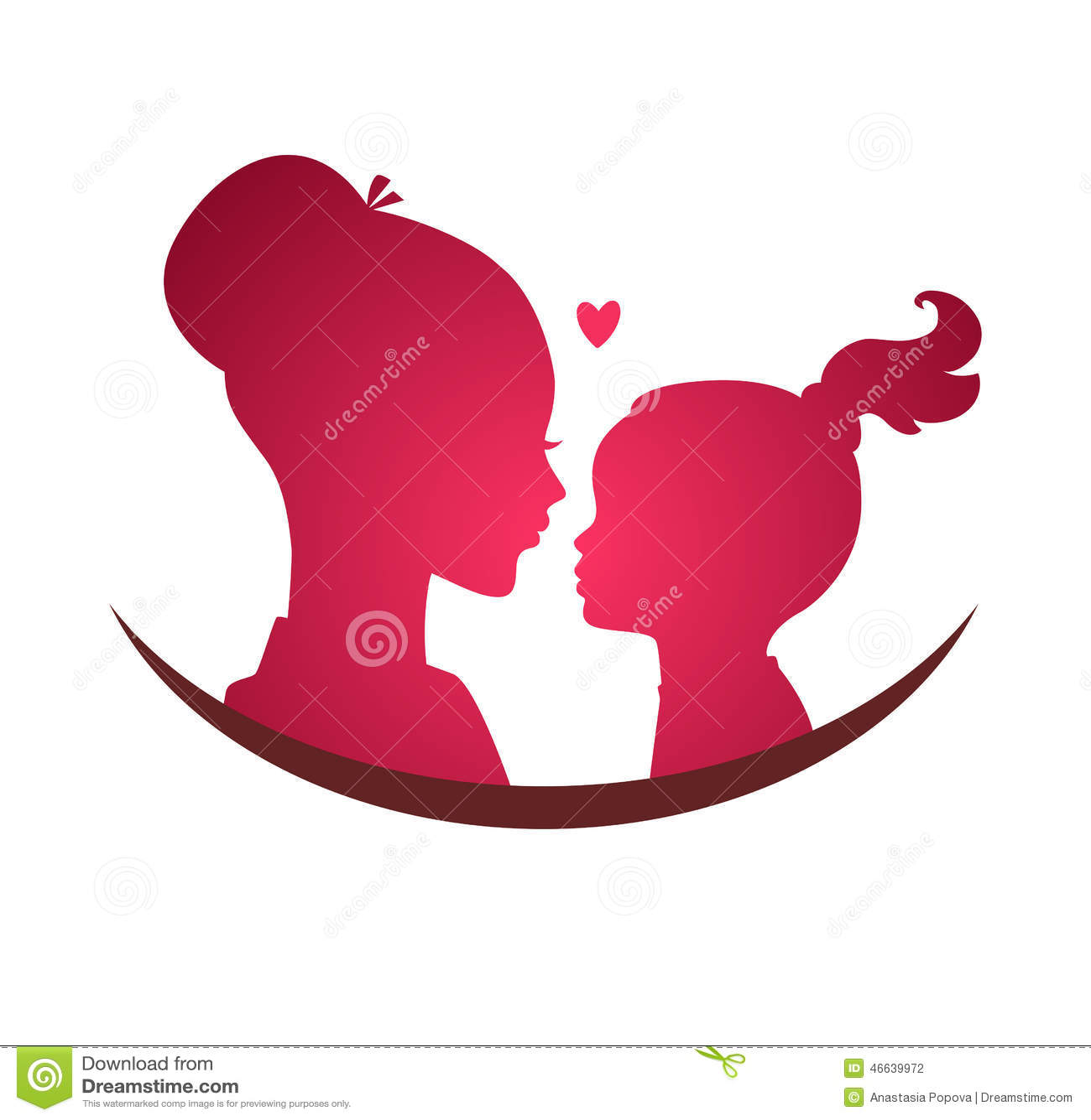 Mamma E Figlia Disegno.Amore Della Figlia E Della Mamma Illustrazione Vettoriale