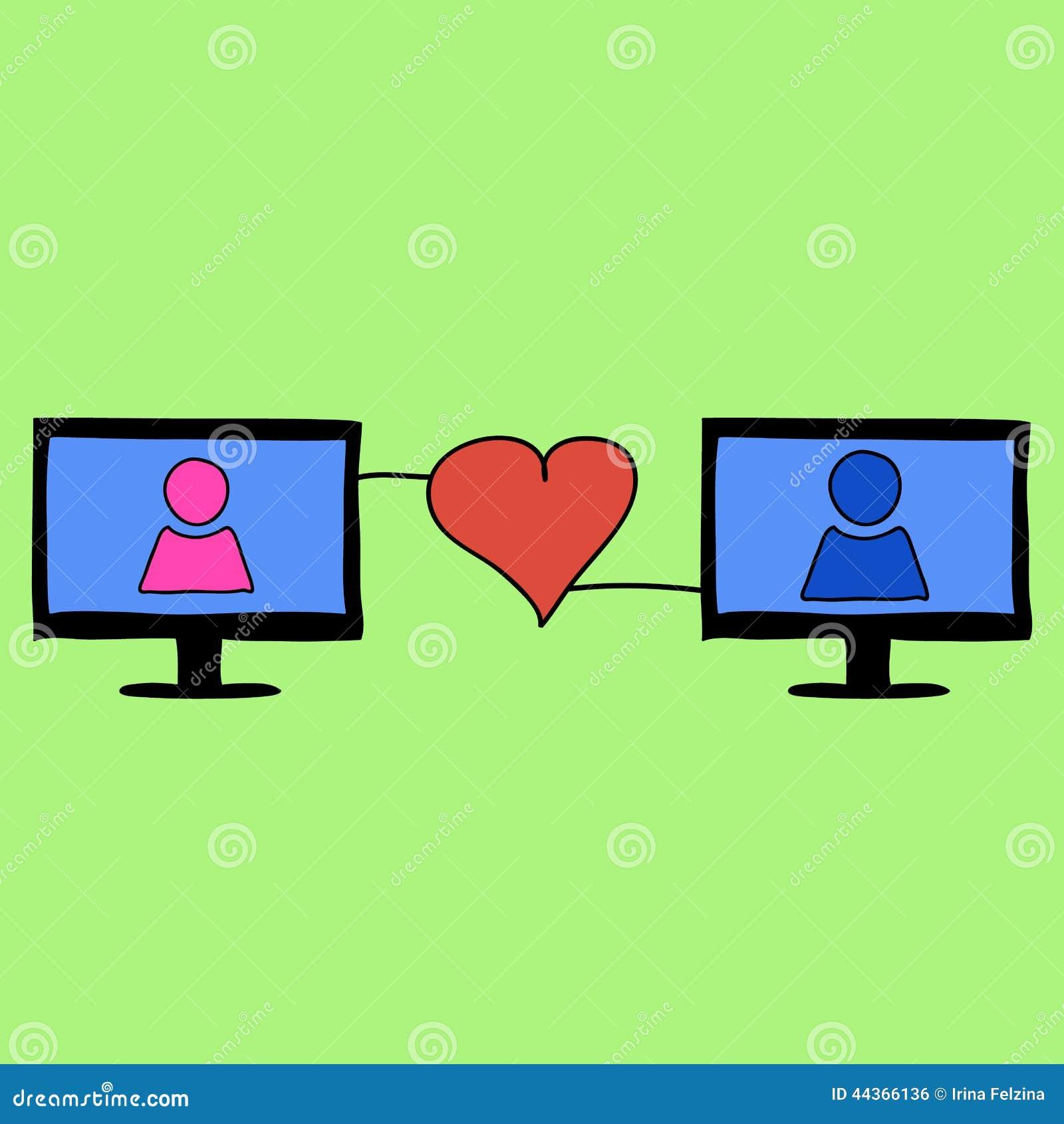 Amore di stile di scarabocchio online
