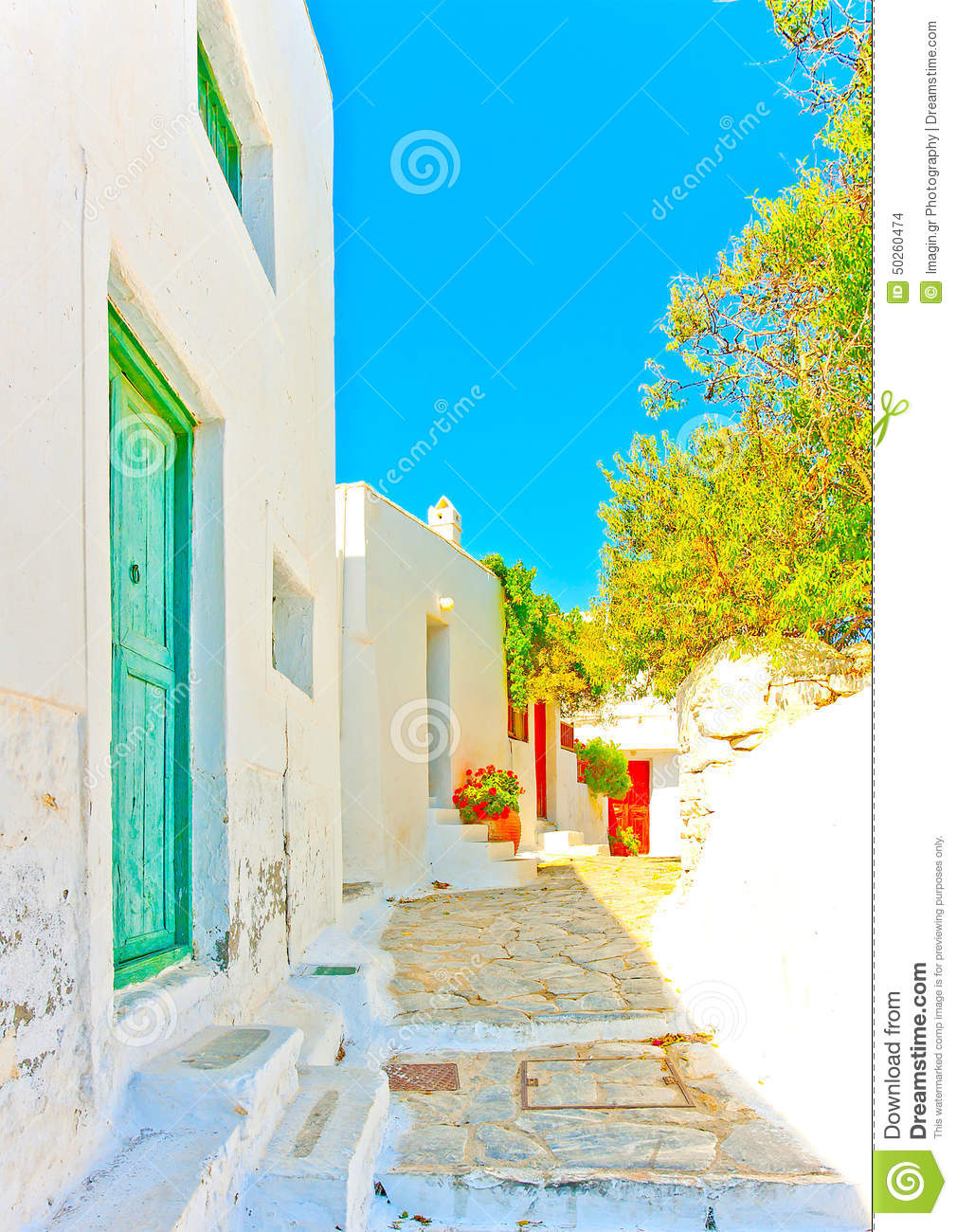 Old beautiful traditional house in chora the capital of amorgos island - In Amorgos Island In Greece