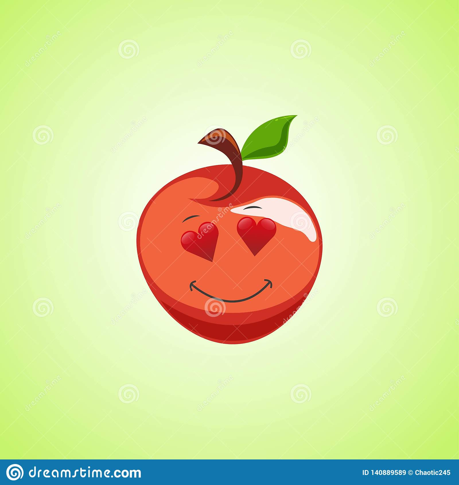 Amorous Pics amorous cartoon red apple symbol. cute smiling apple icon
