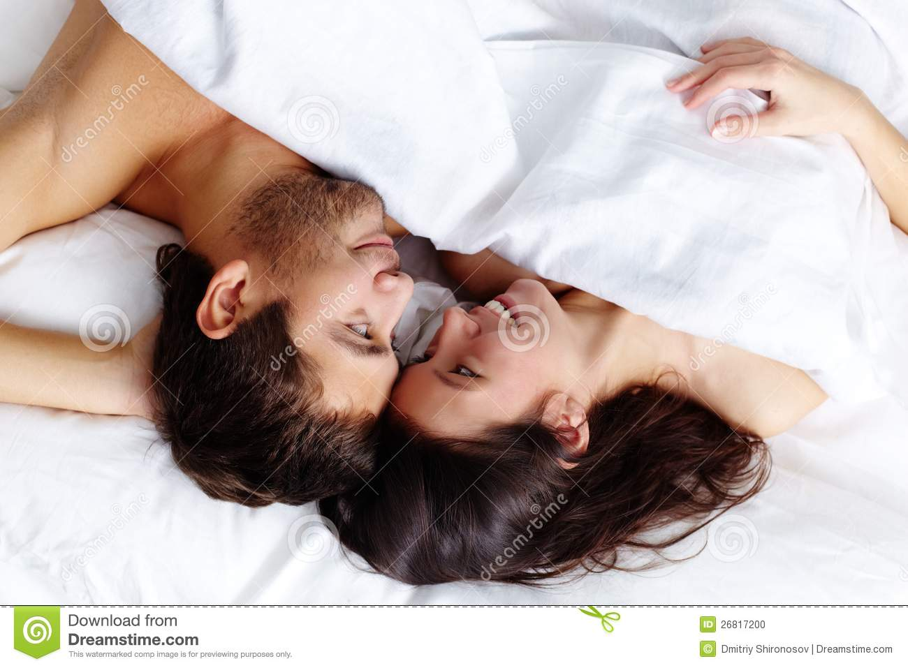 Man and woman mating in bed images