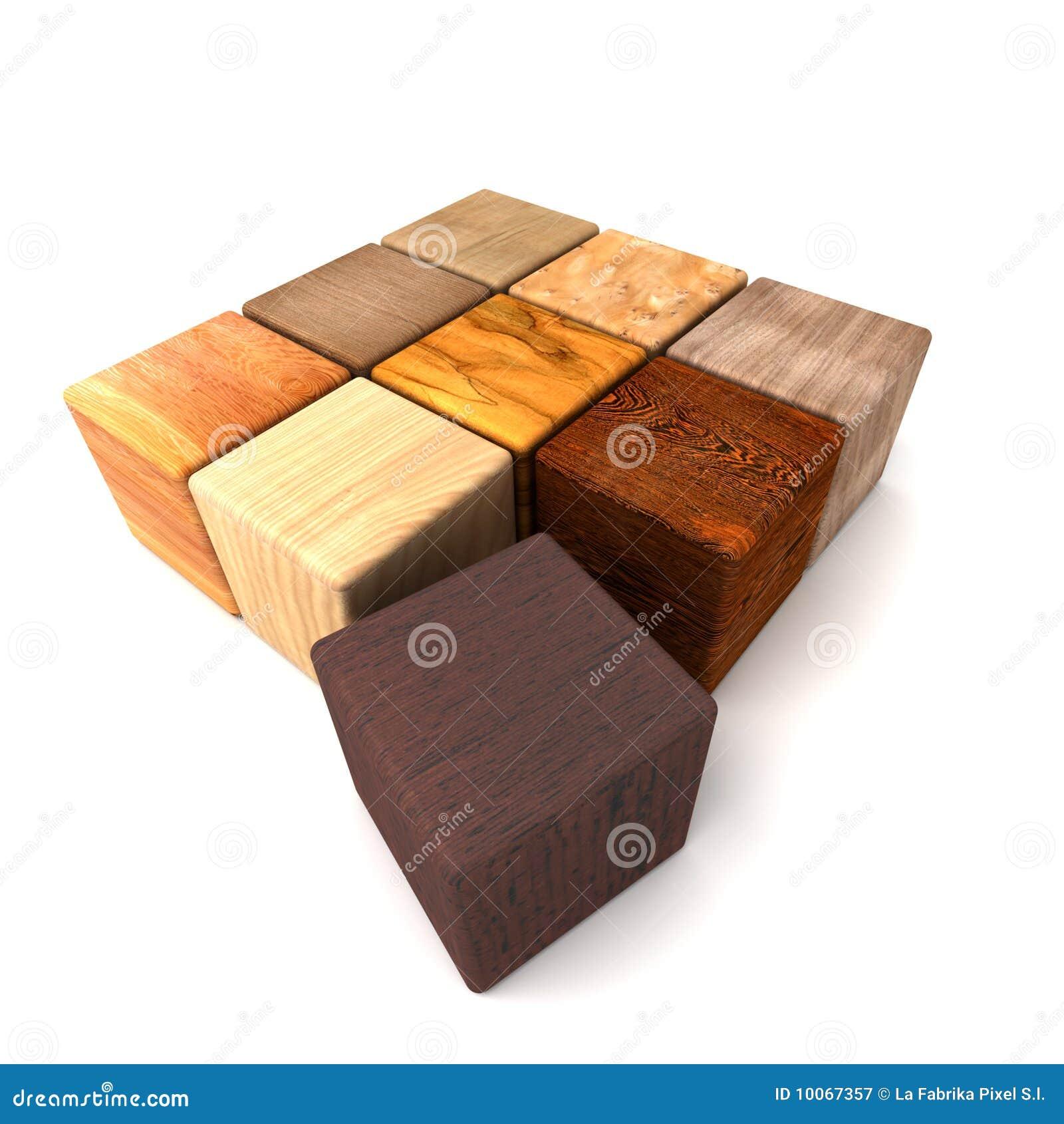 Amostras de madeira