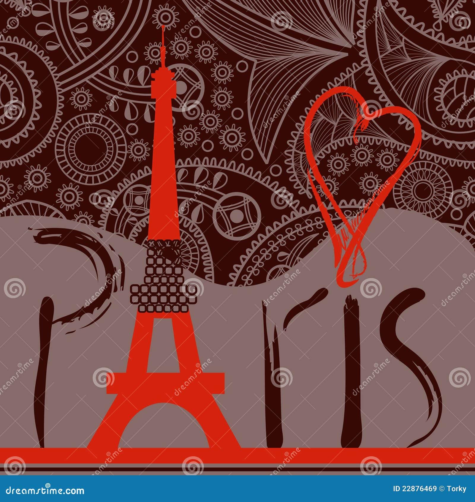 Amour à l arrière-plan de Paris