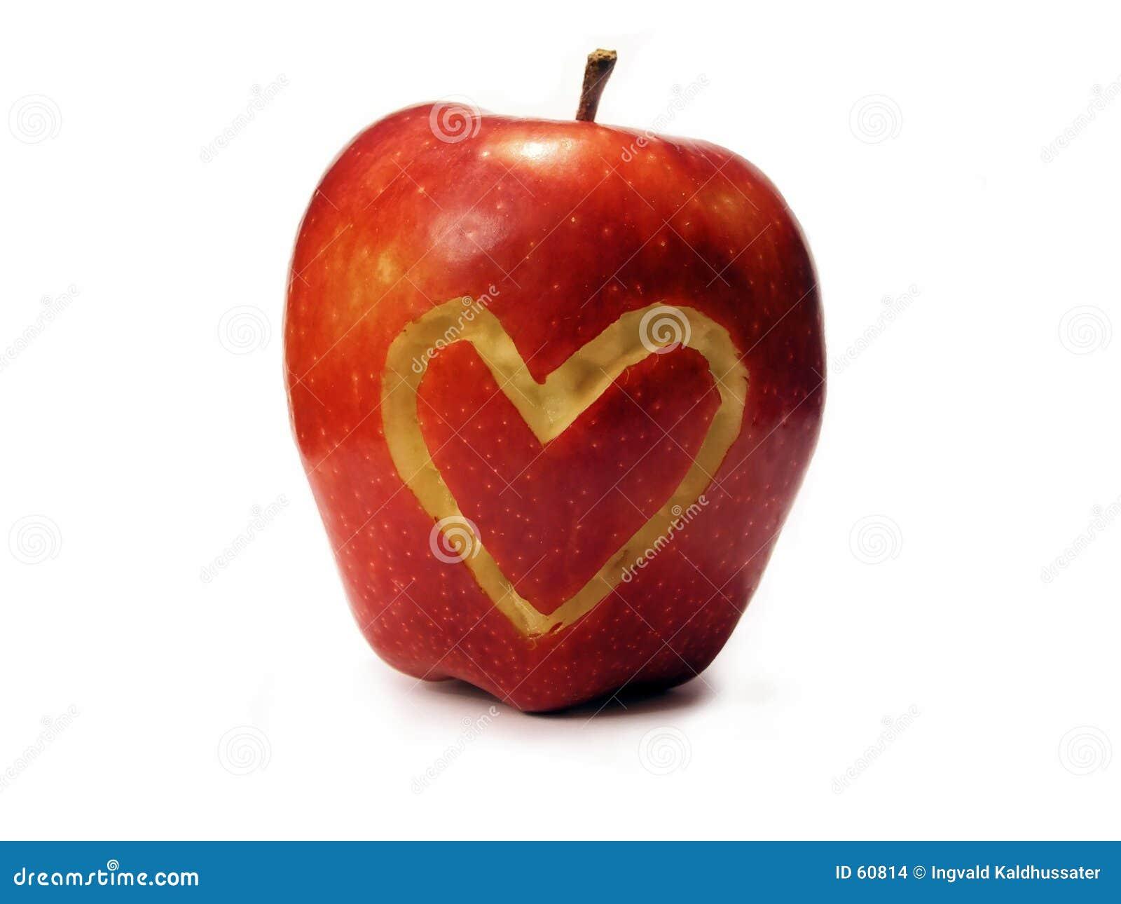 Download Amour d'Apple photo stock. Image du juteux, coeur, saison - 60814