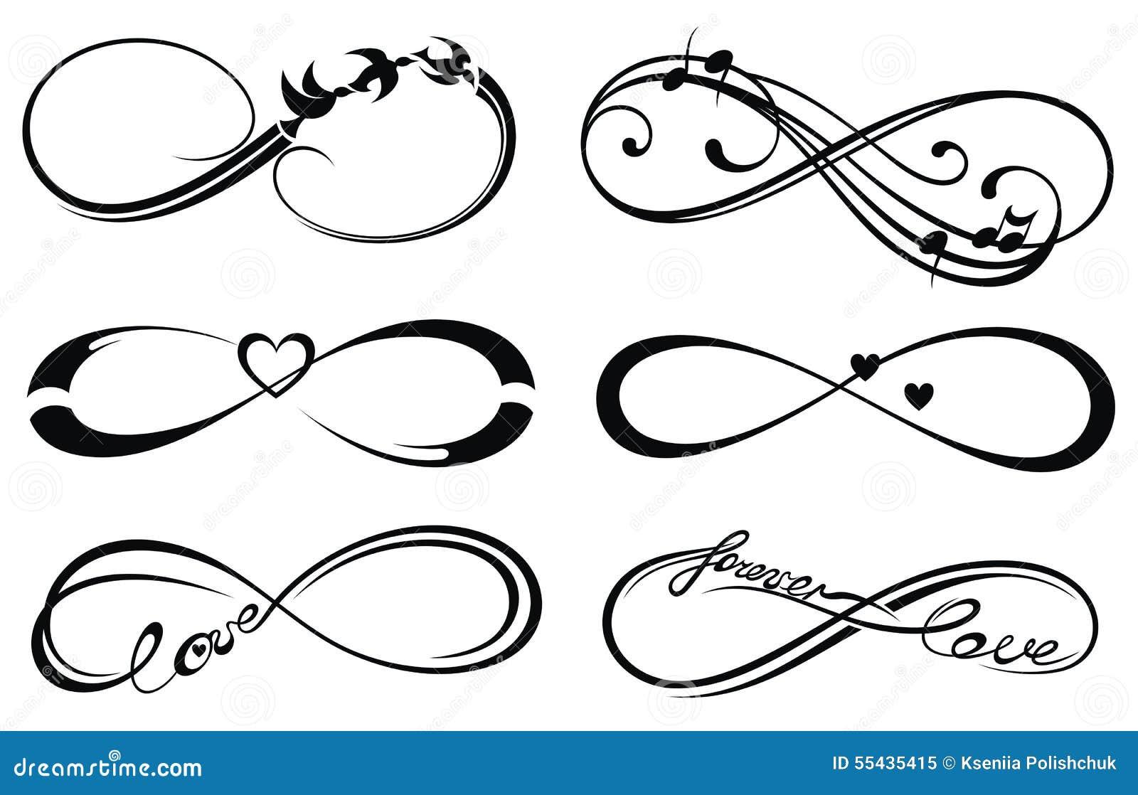 amour d 39 infini pour toujours symbole illustration de vecteur illustration du illustration. Black Bedroom Furniture Sets. Home Design Ideas