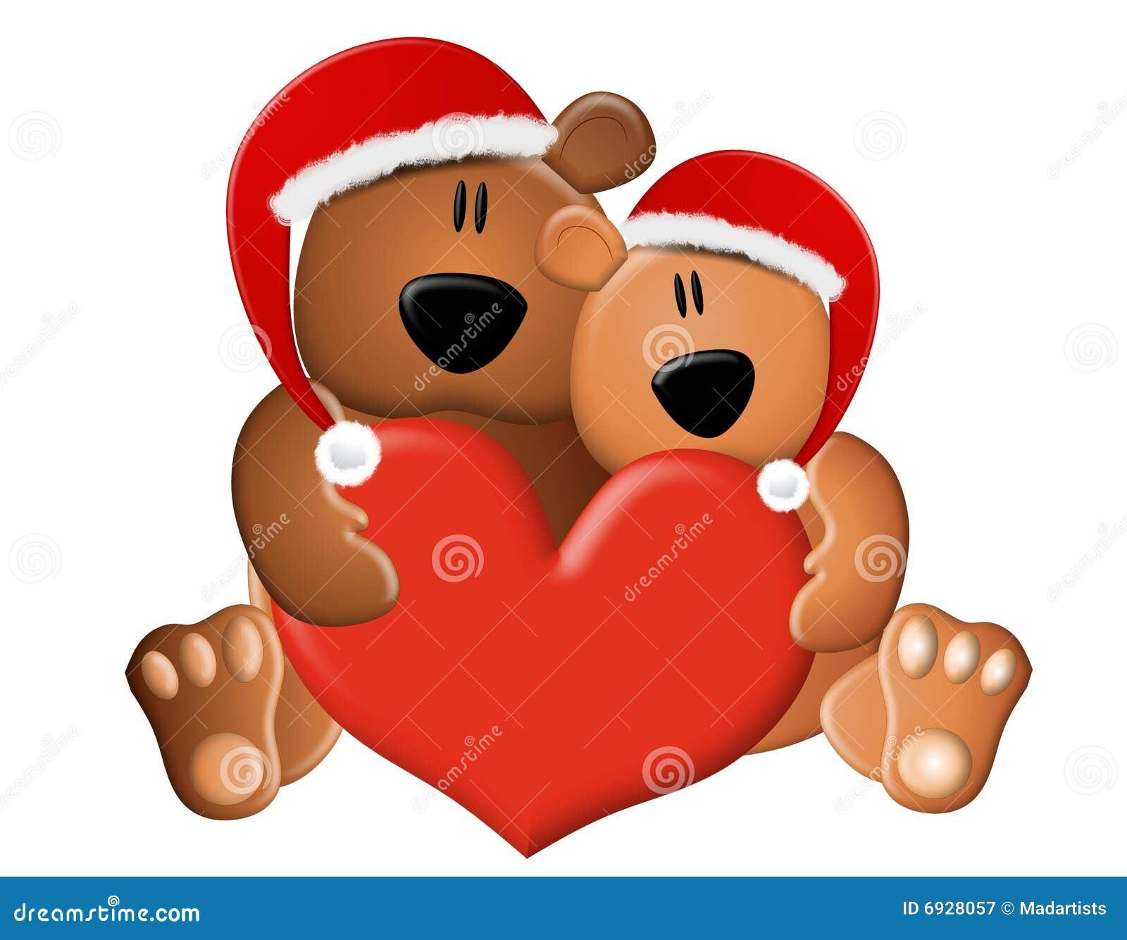 Amour d 39 ours de nounours de no l photographie stock libre de droits image 6928057 - Nounours noel ...