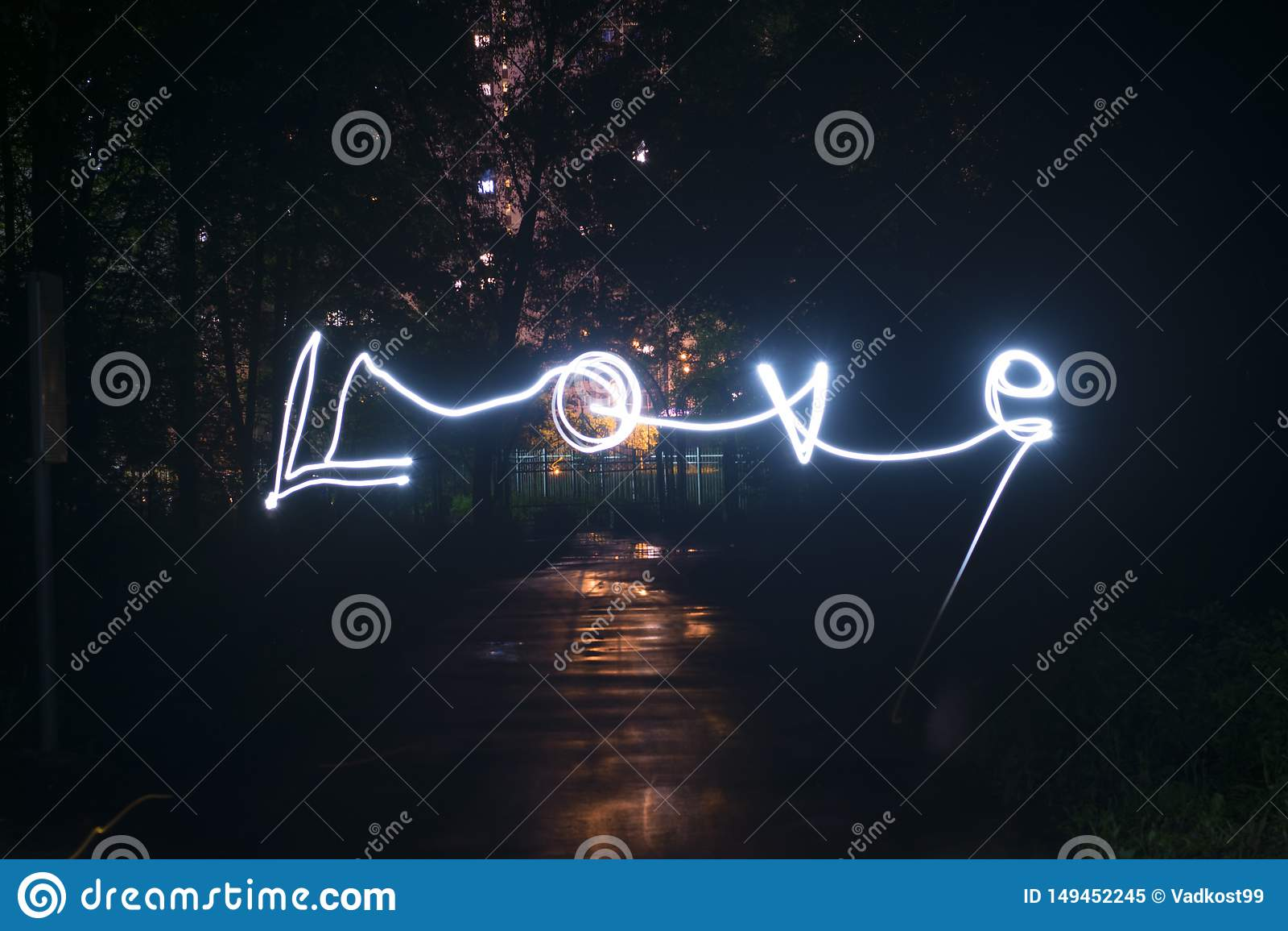 Amour dans le freezelight