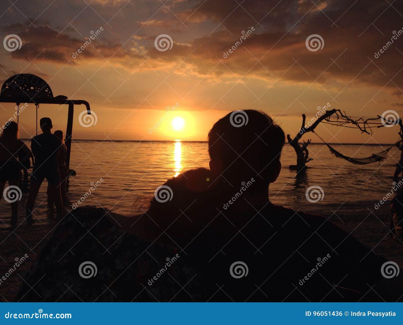 Amour de coucher du soleil