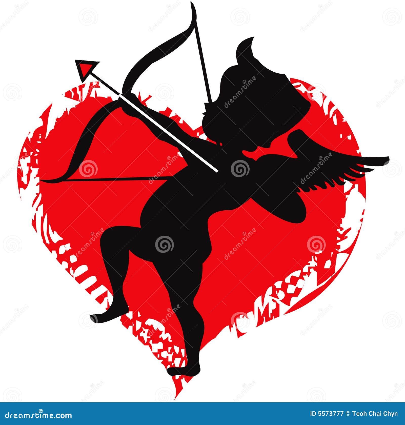 Amour de cupidon illustration de vecteur image du cadeau - Dessin de cupidon ...