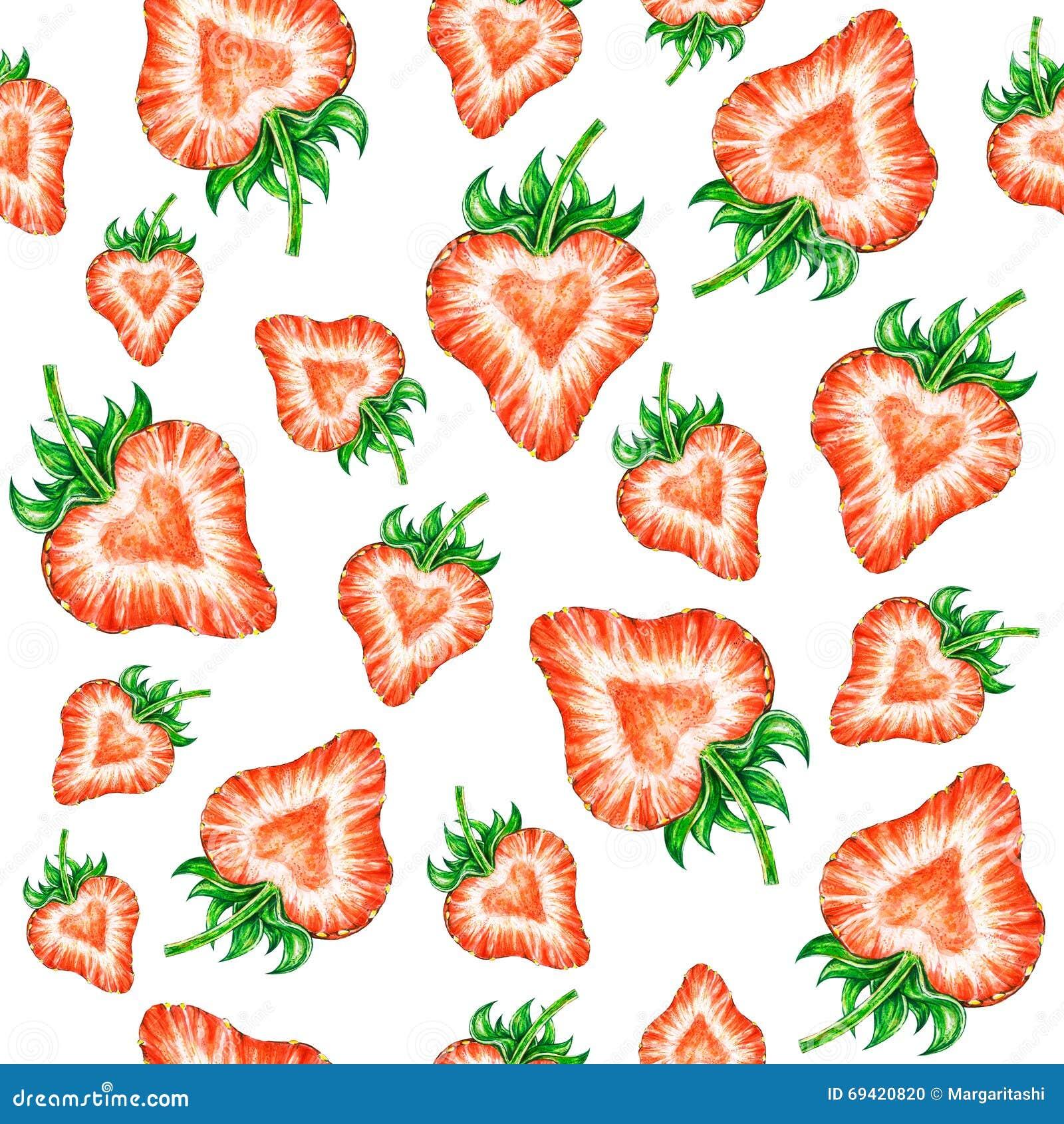 Amour de fraise dessin de couleur d 39 eau de la fraise mod le sans couture - Couleur fraise ecrasee ...
