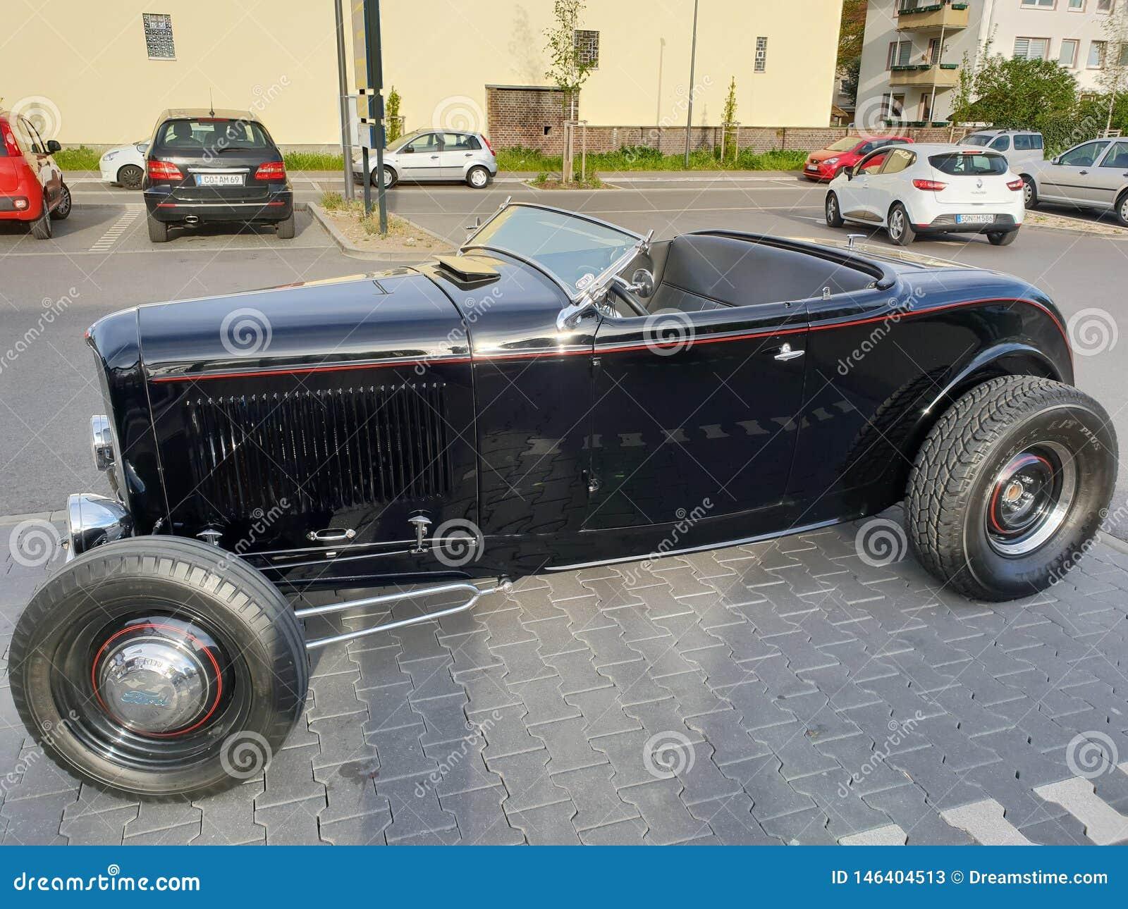 Amour riche d oldtimer de voiture