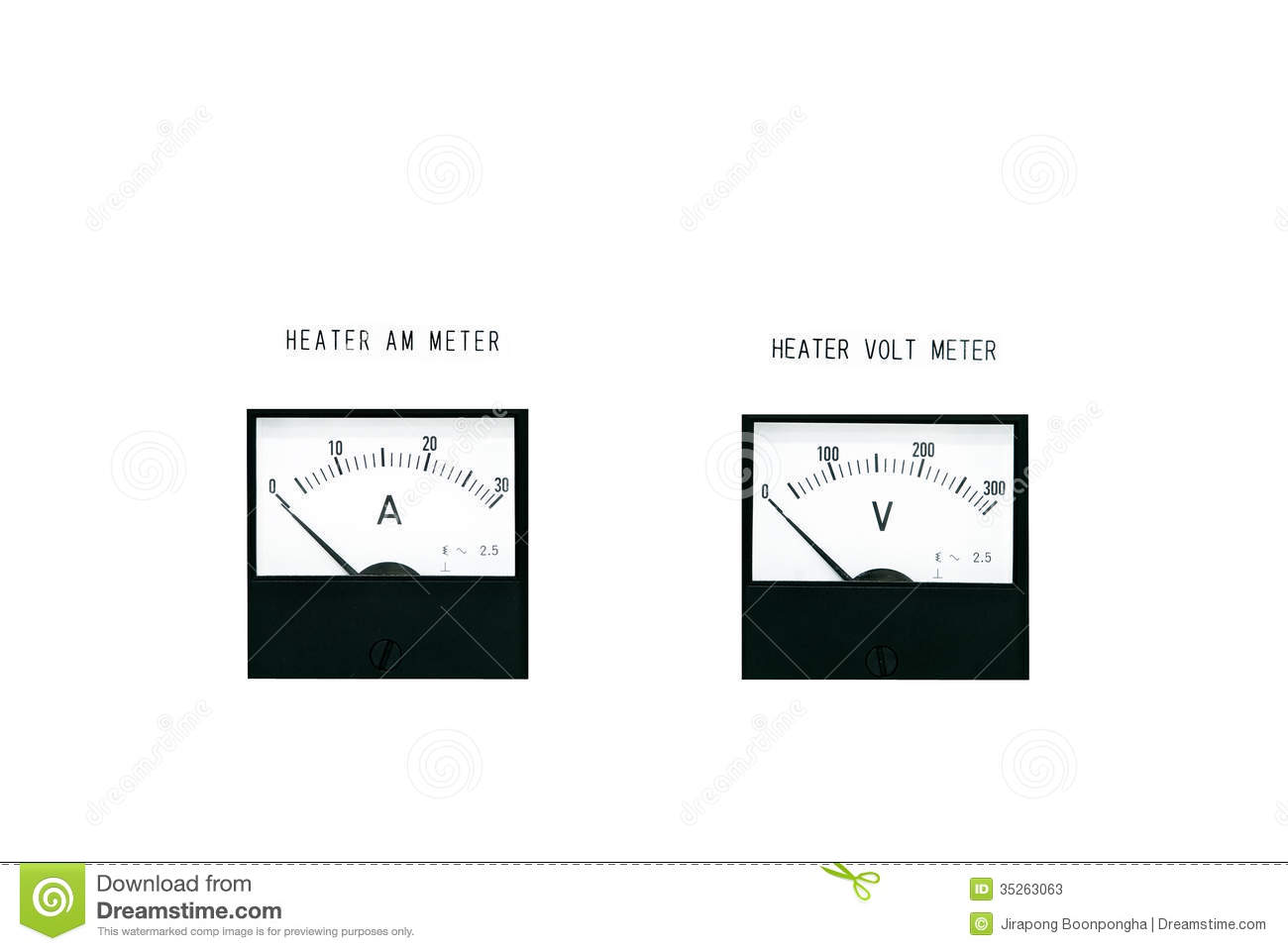 amp meter and volt meter stock photos