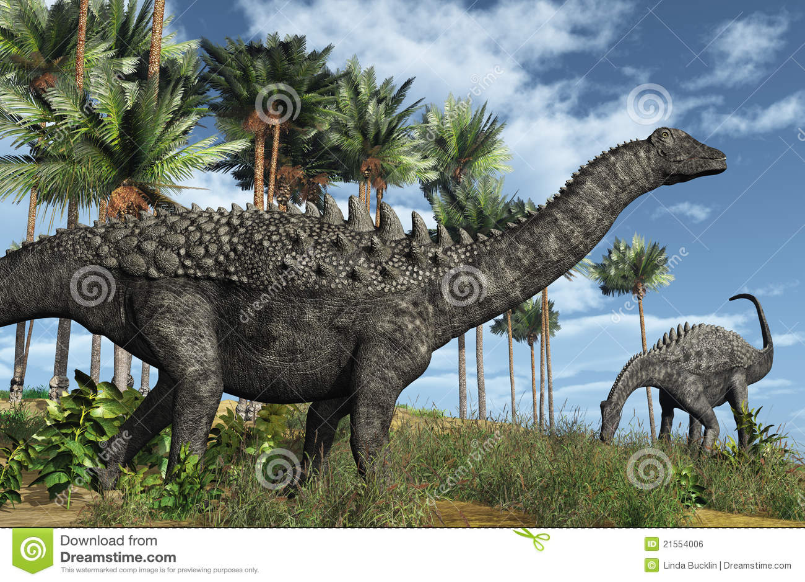 Ampelosaurus dinosaury