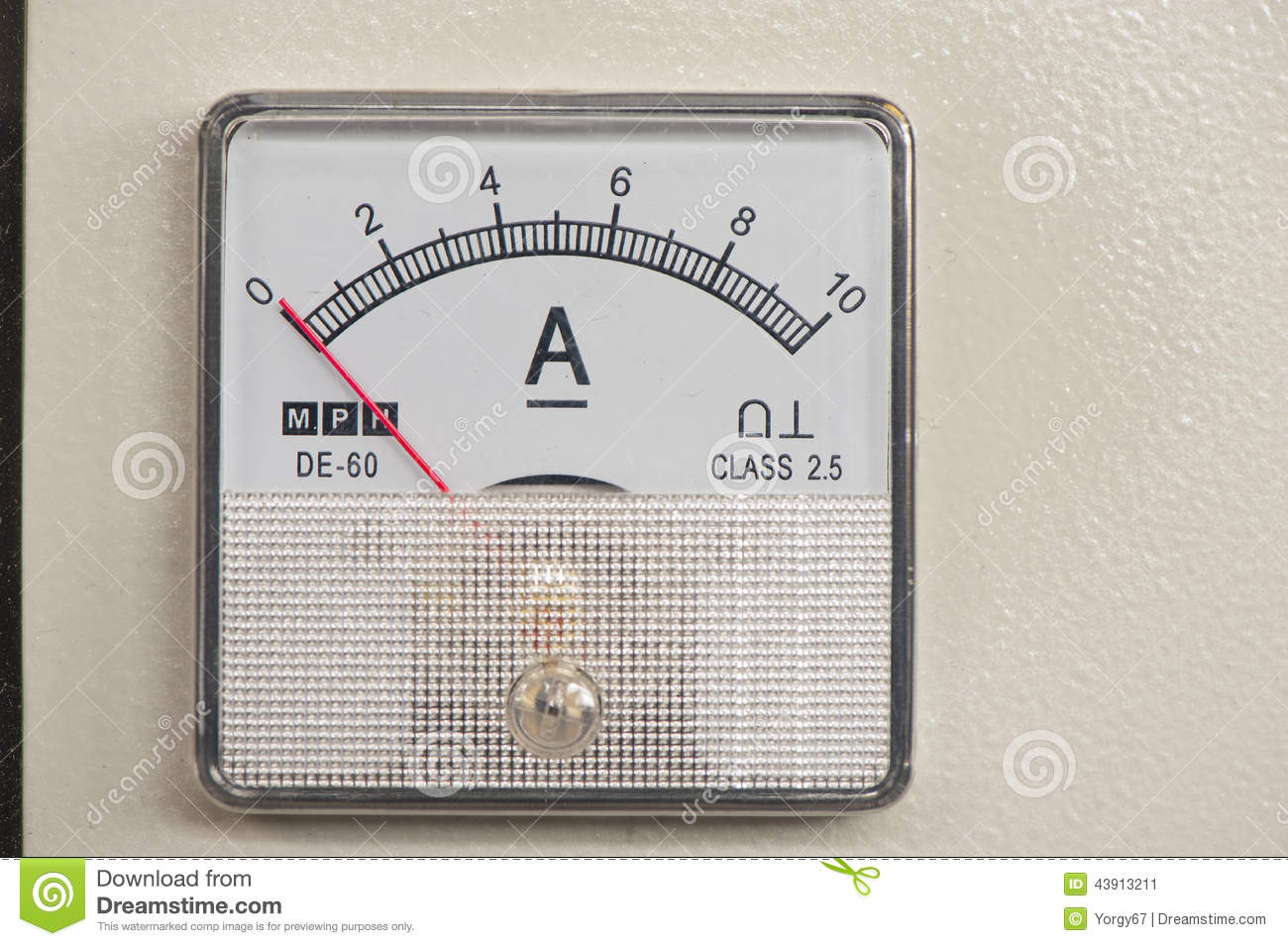 Ampere Meter Instrument : Ampere meter stock image of power industry
