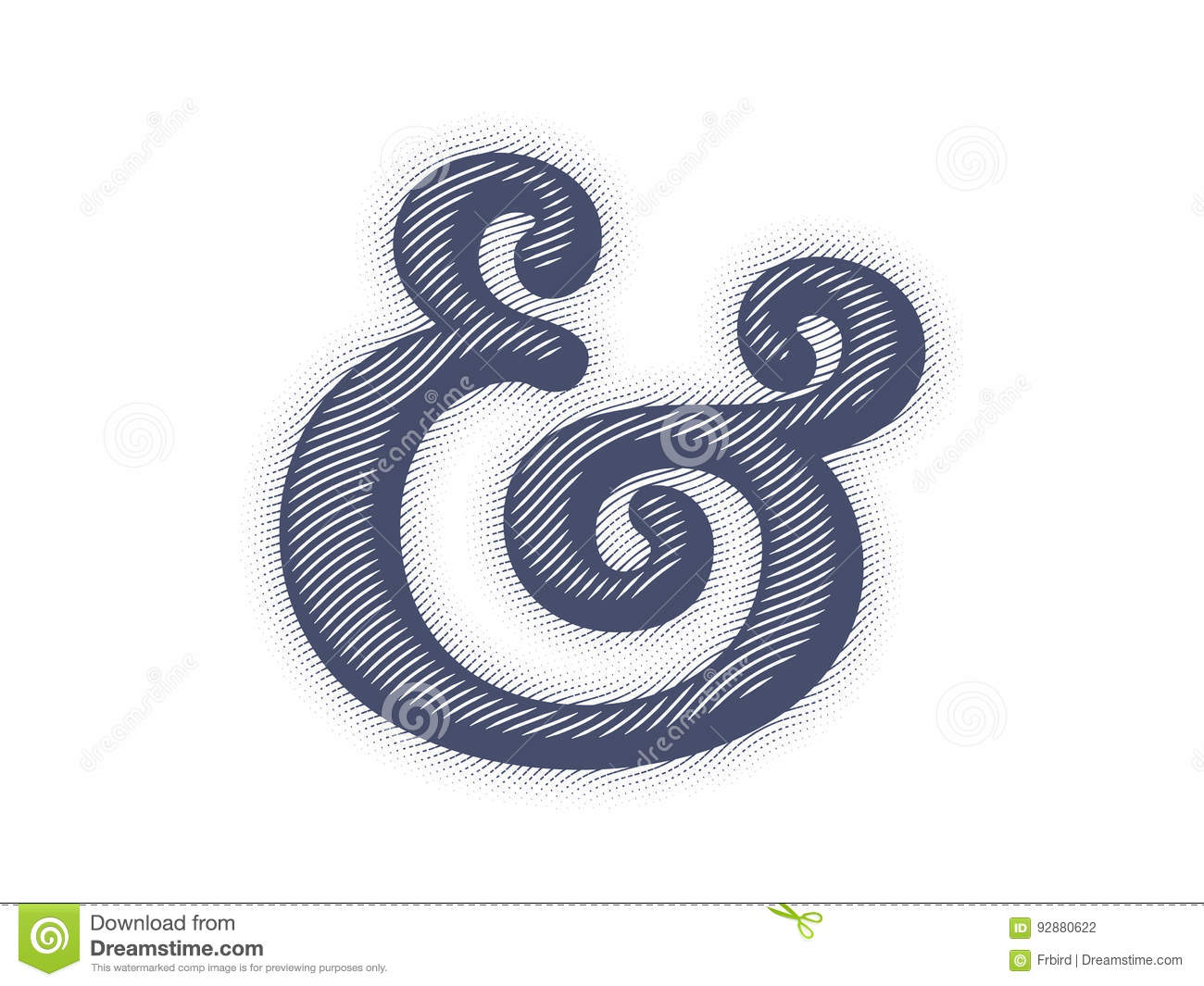 Ampersand Vector Illustration Stock Vector Illustration Of Linocut