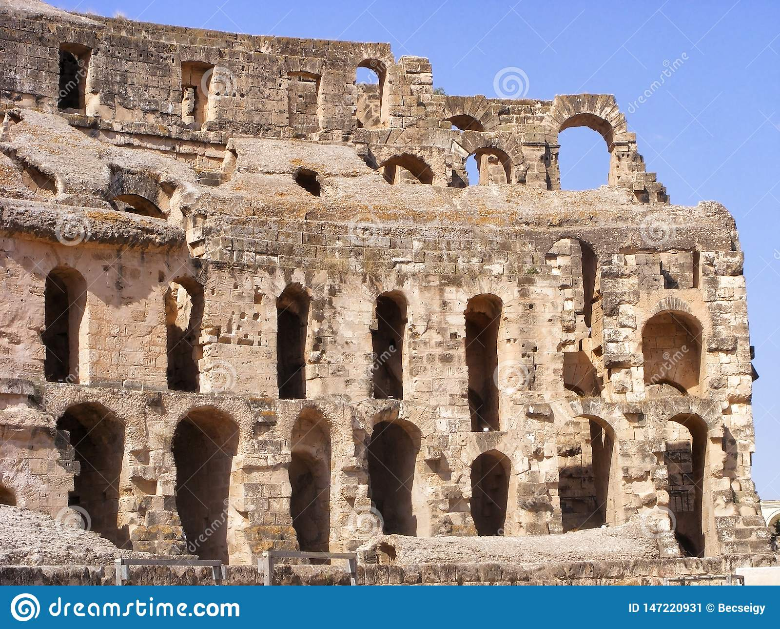 Amphithéâtre antique en EL Jem, Tunisie, Afrique du Nord
