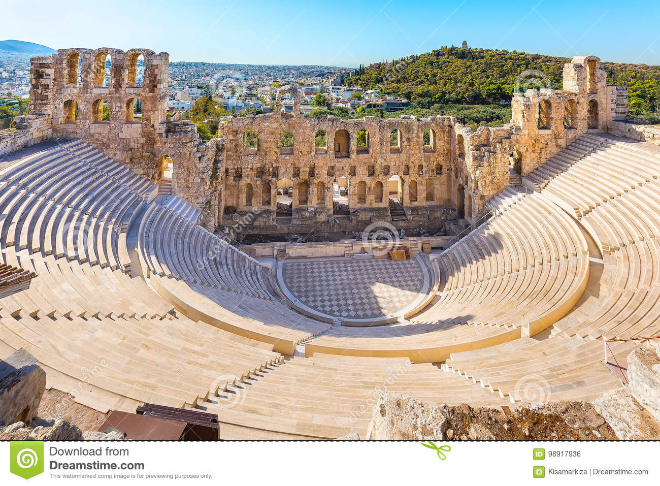 Amphitheater Of Acropolis In Athens Greece Stock Photo Image Of Historical Akropolis 98917936