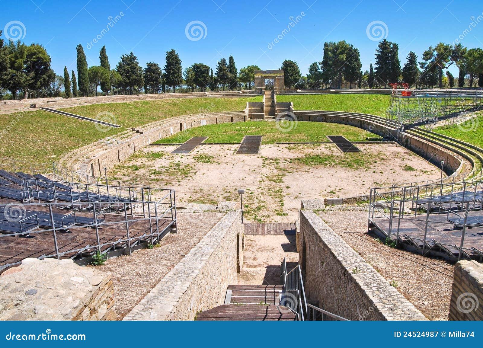 Amphitheatre de Lucera. Puglia. Italy.