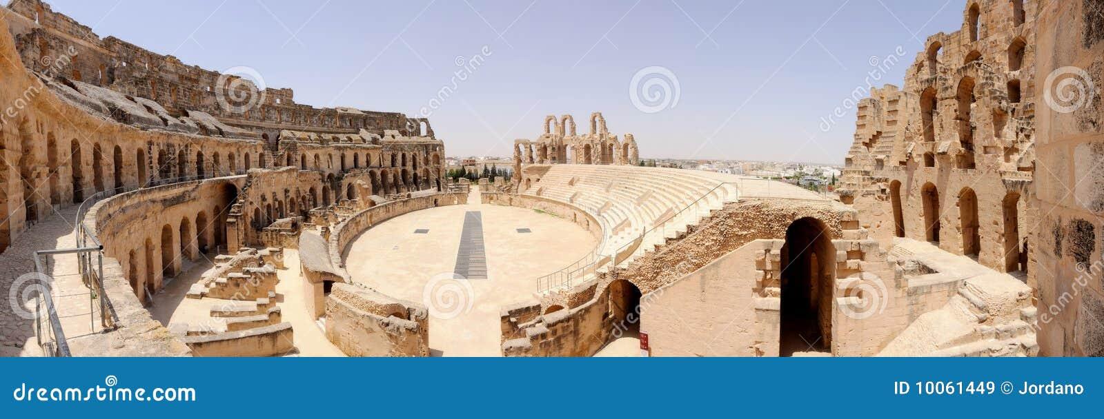 Amphitheatre em EL-Jem, Tunísia