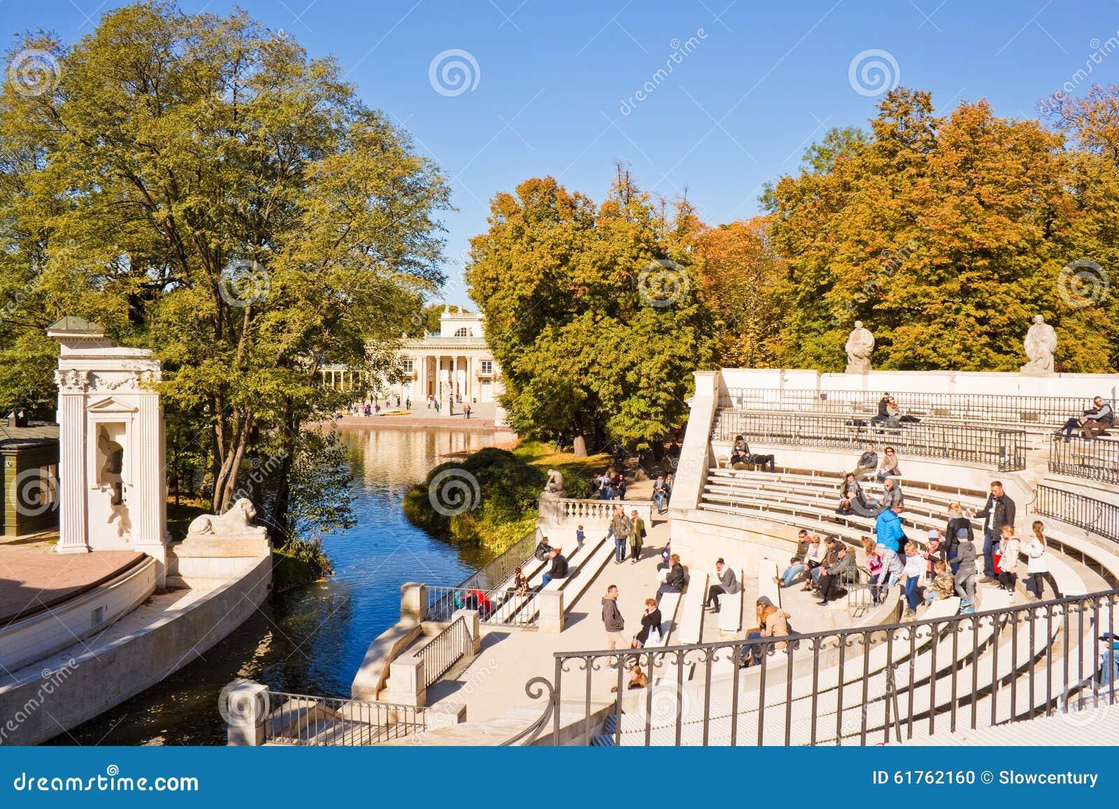 Amphitheatre In Lazienki Park Royal Baths Park Warsaw