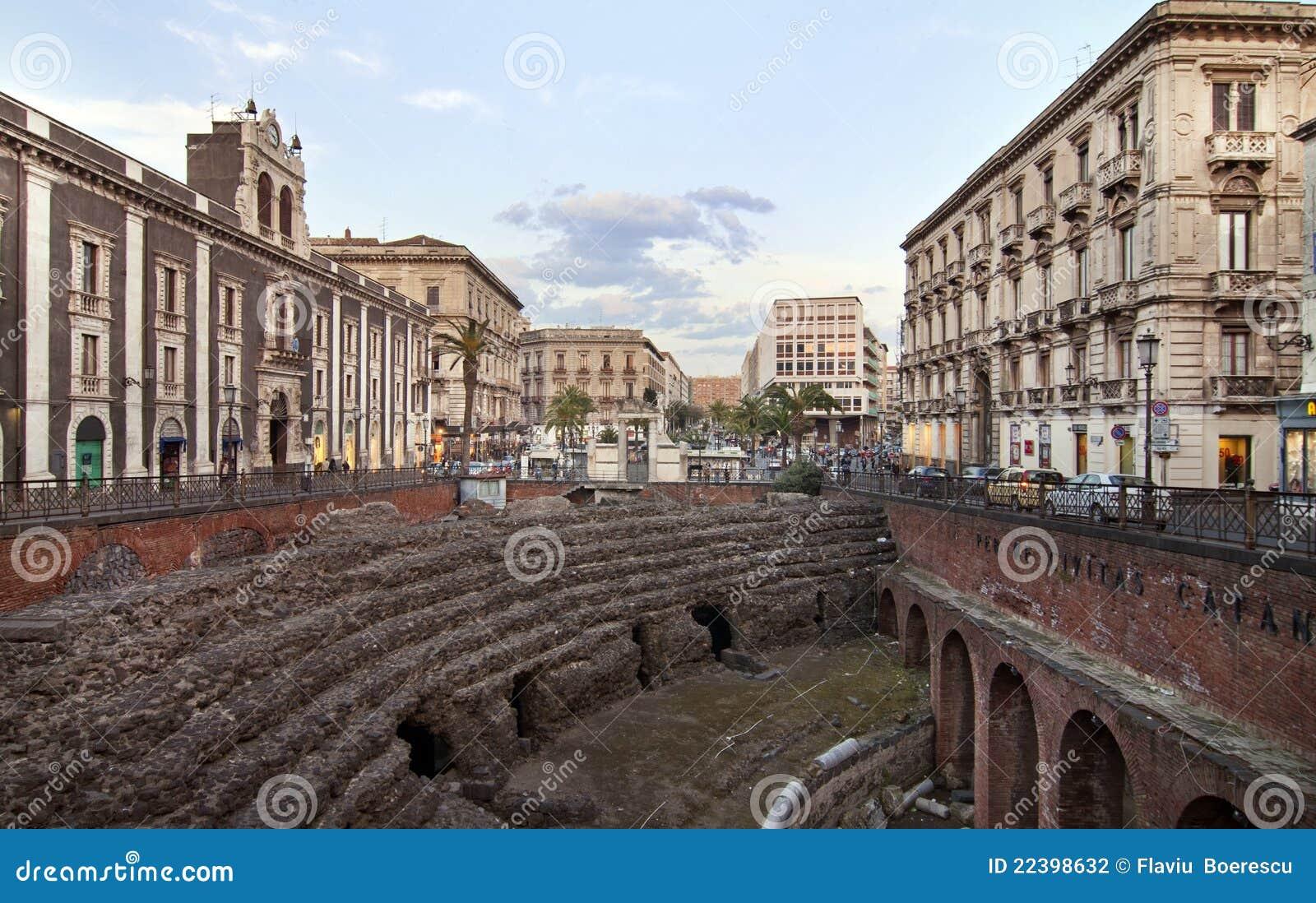 Amphitheatre romano em Catania