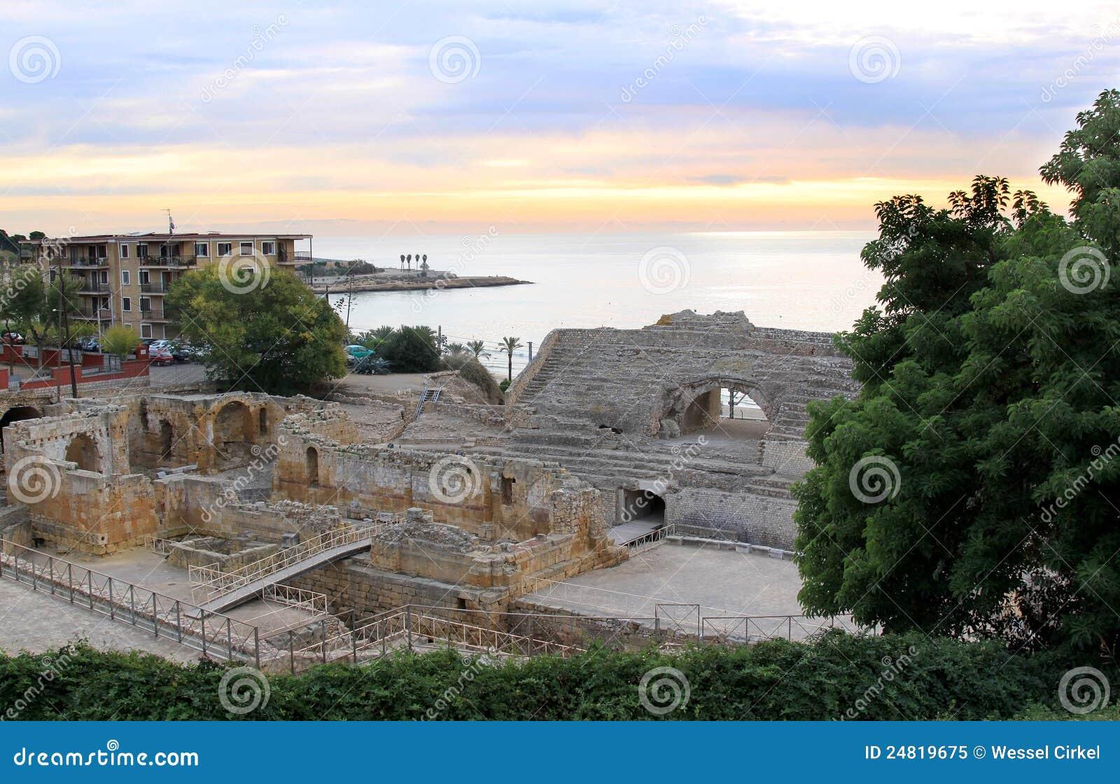 Amphitheatre romano em Tarragona, Spain