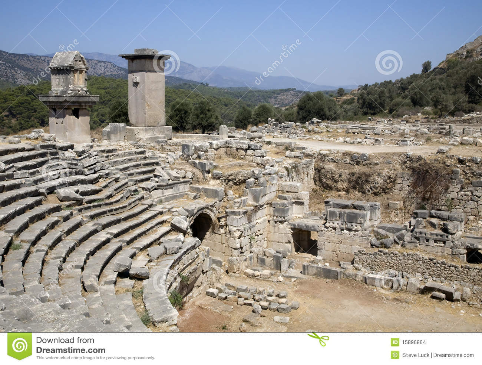 Amphitheatre romano em Xanthos, Turquia