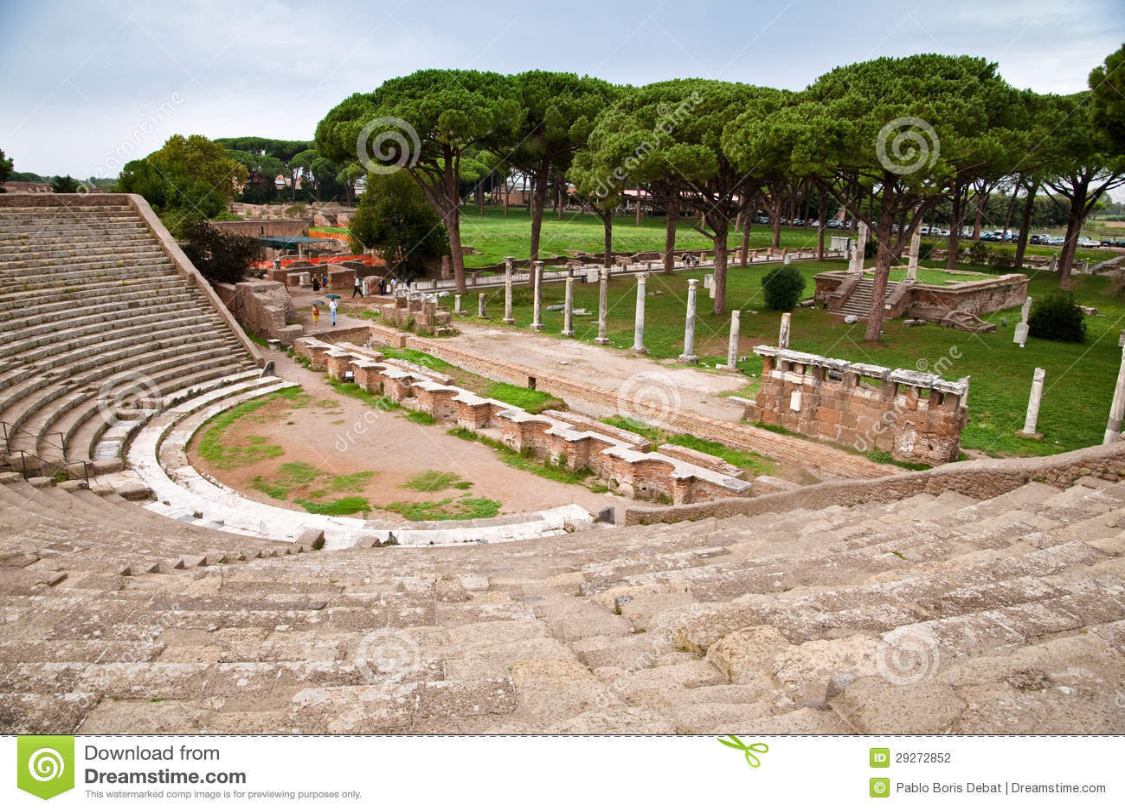 Amphitheatre steps and mausoleum in ostia antica rome for Mr arredamenti ostia antica