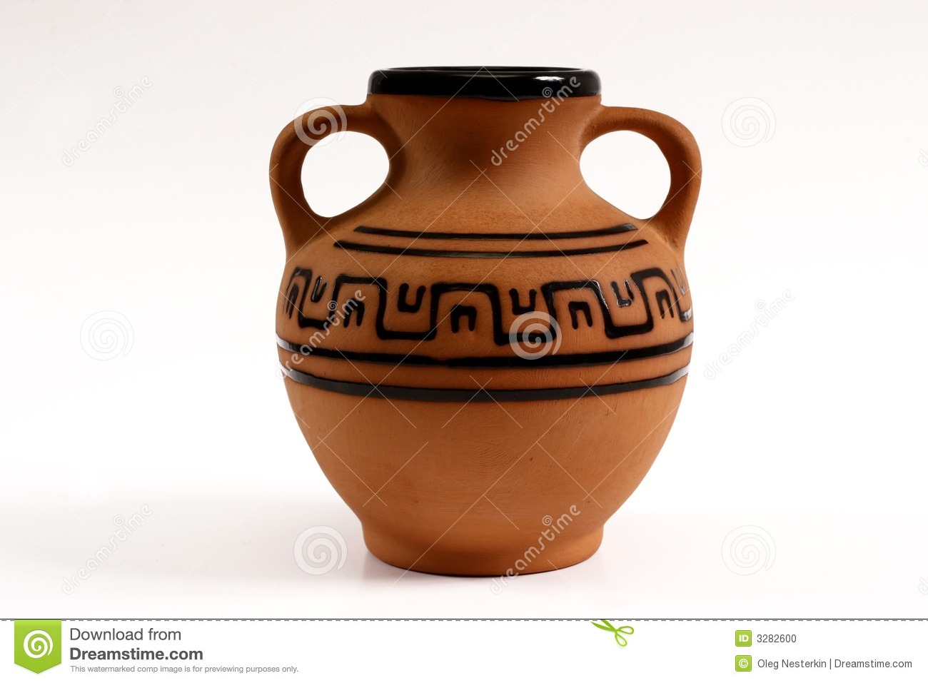 An ancient amphora was utillized for storage of wine.