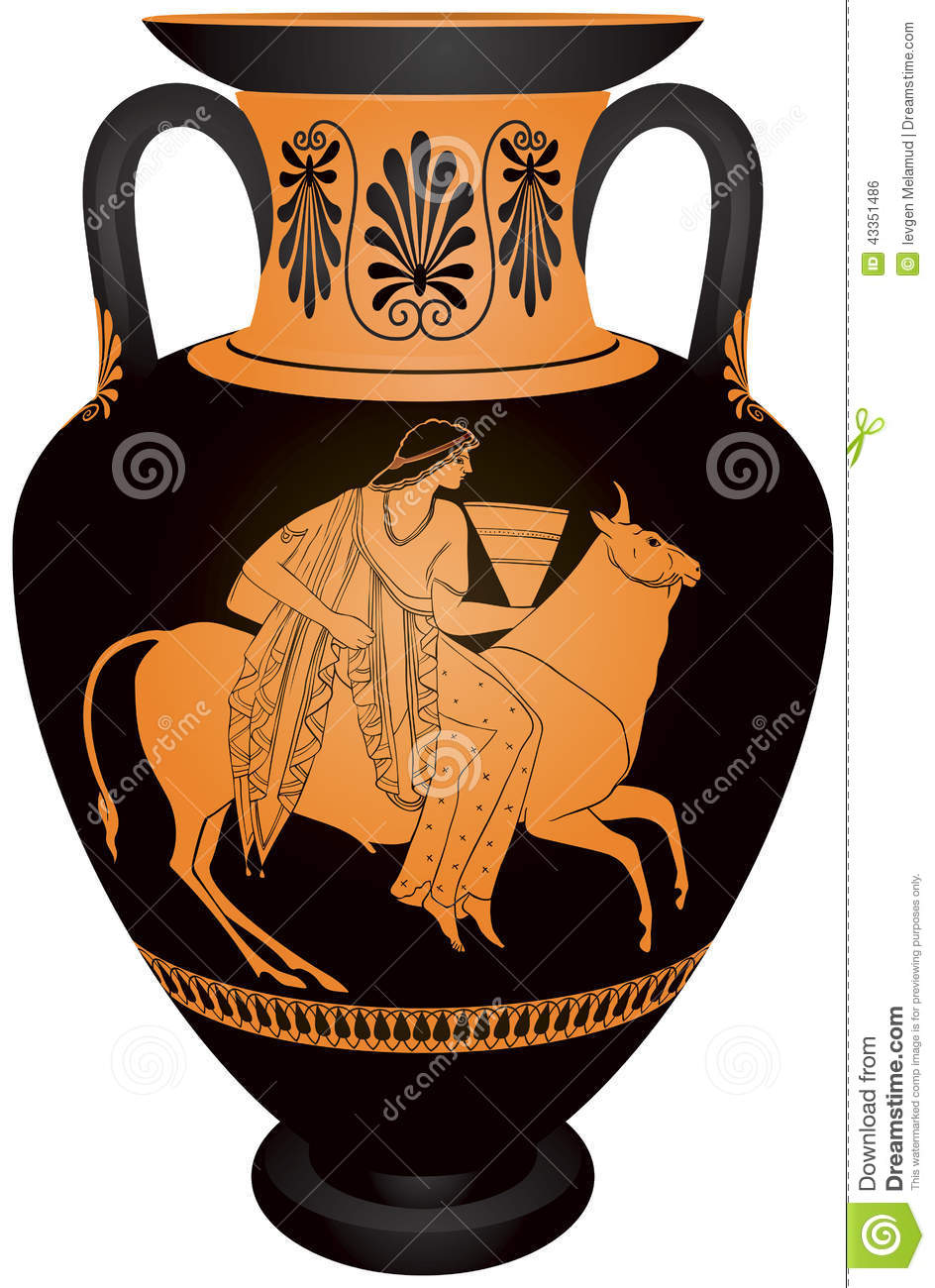 Amphora Europa And The Bull Stock Vector Image 43351486