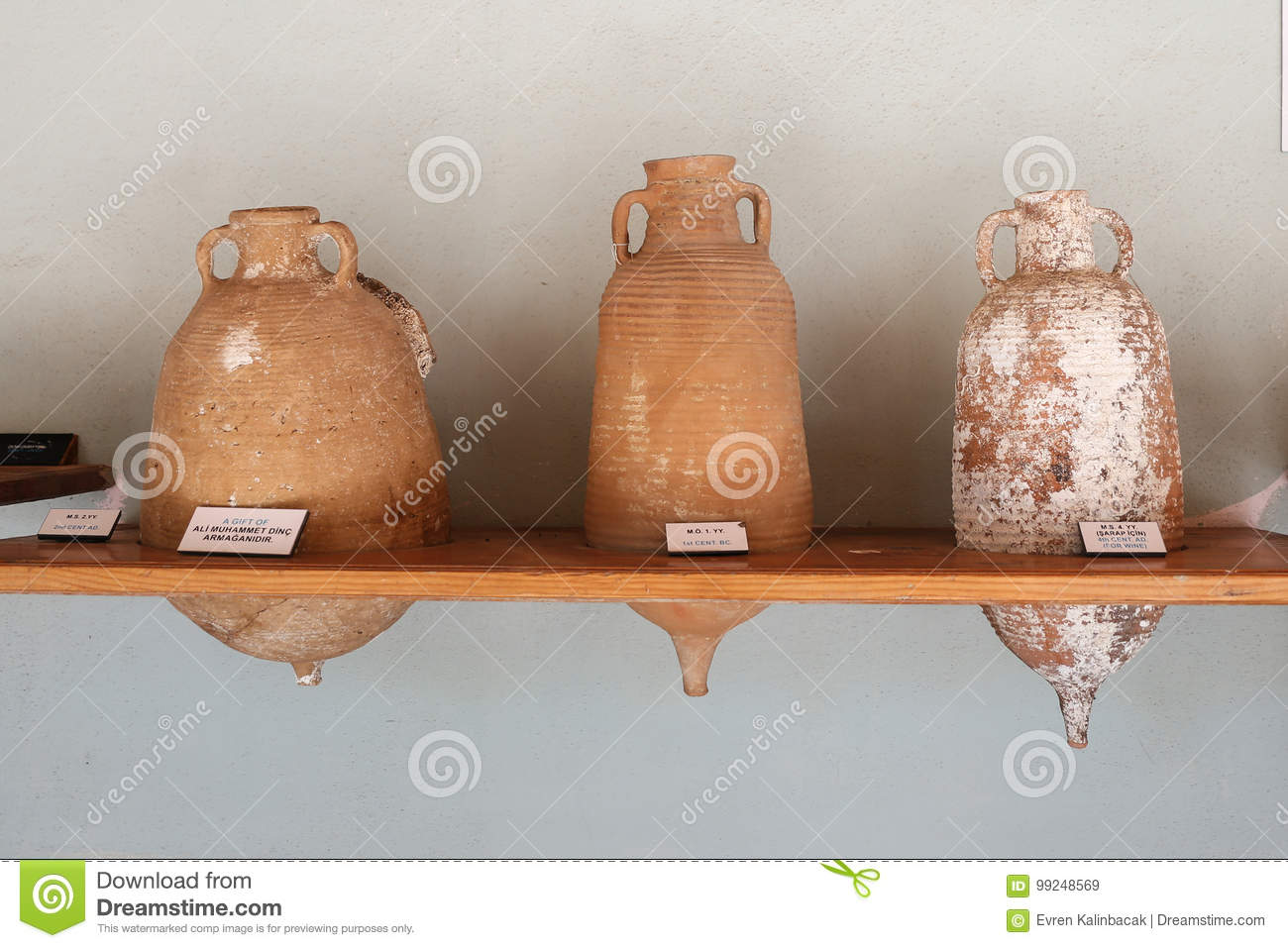 Amphoras in Bodrum Castle, Turkey
