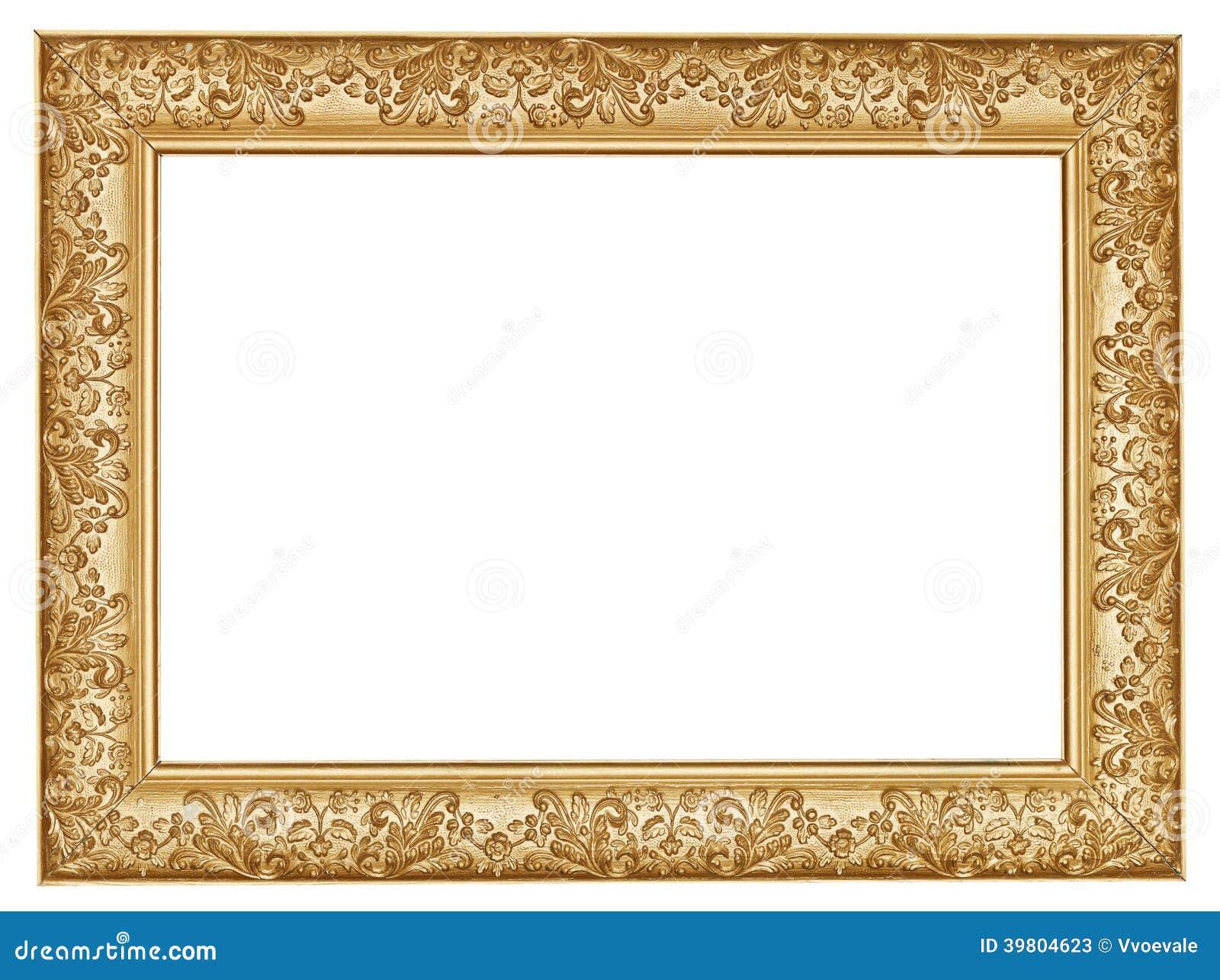 Ampia cornice di legno scolpita dorata antica fotografia for Cornice foto legno