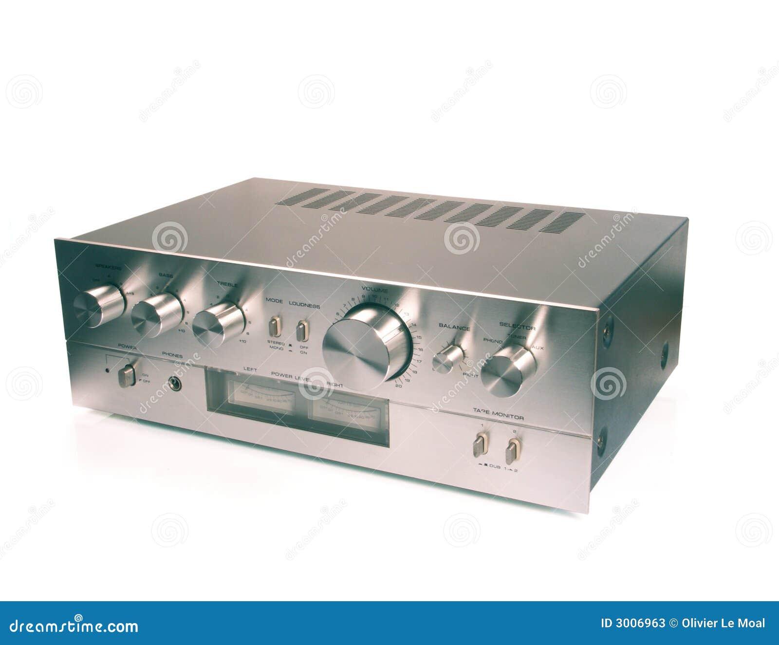 Amplificador 1970 do vintage