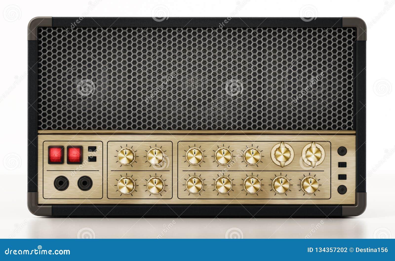 Amplificateur générique de guitare d isolement sur le fond blanc illustration 3D