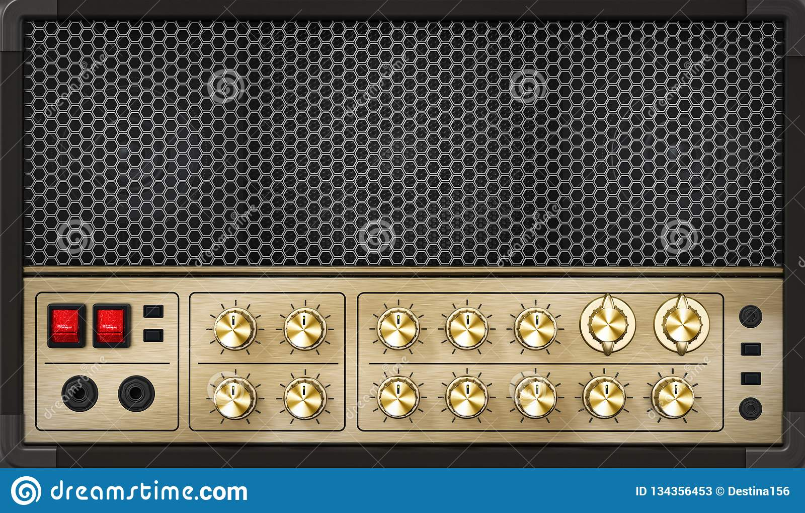 Amplificateur générique de guitare de sensation de cru avec l illustration 3D