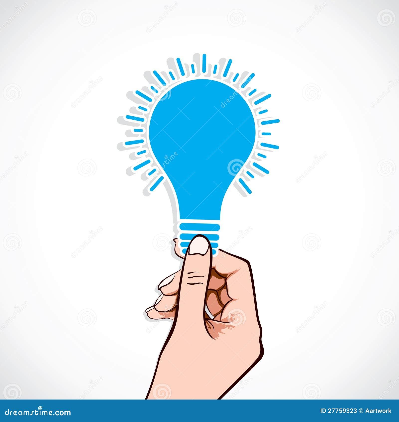 Ampoule bleue à disposition